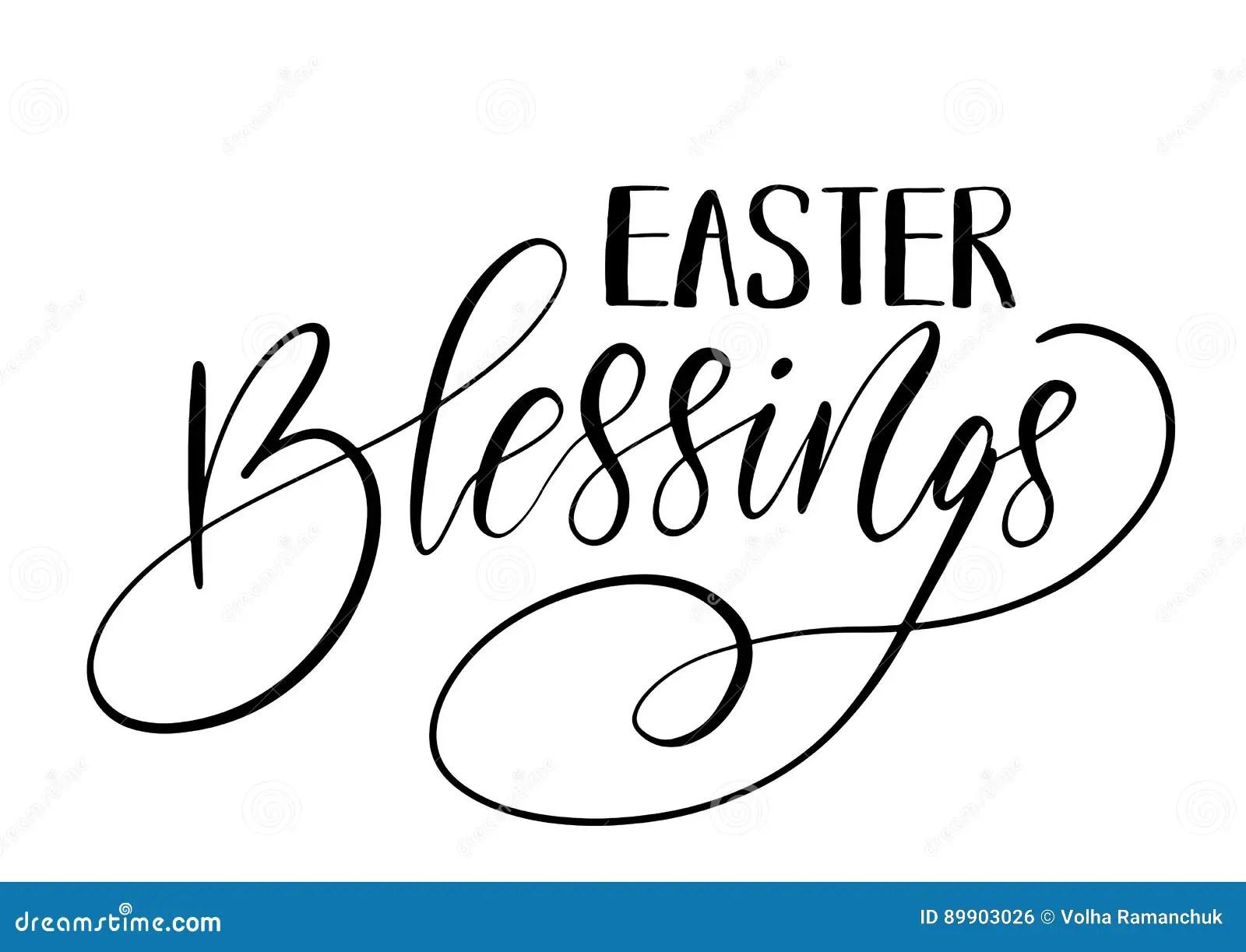 Easter Holiday Celebration Easter Blessings Handwriting