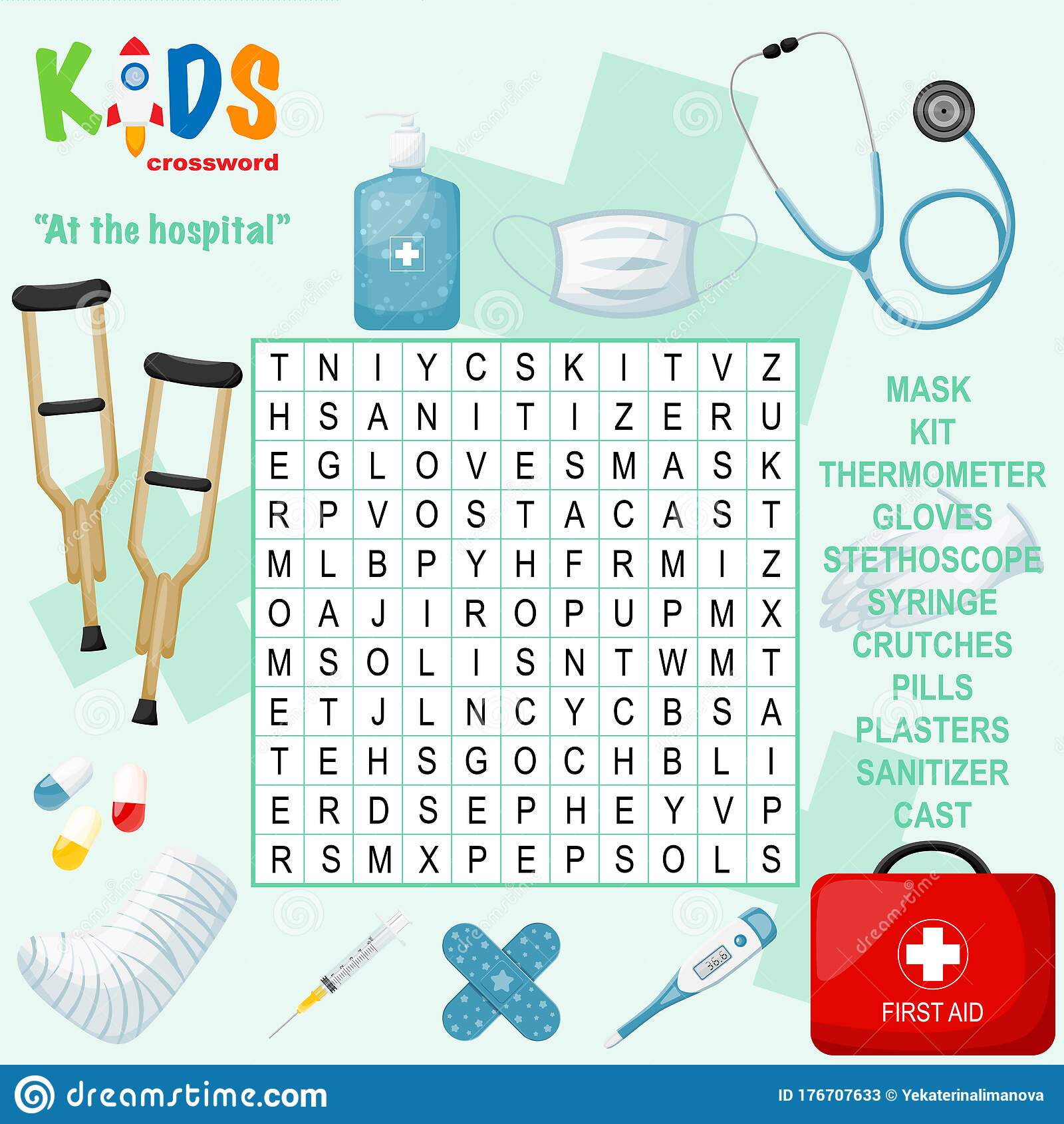 First Aid Supplies Crossword