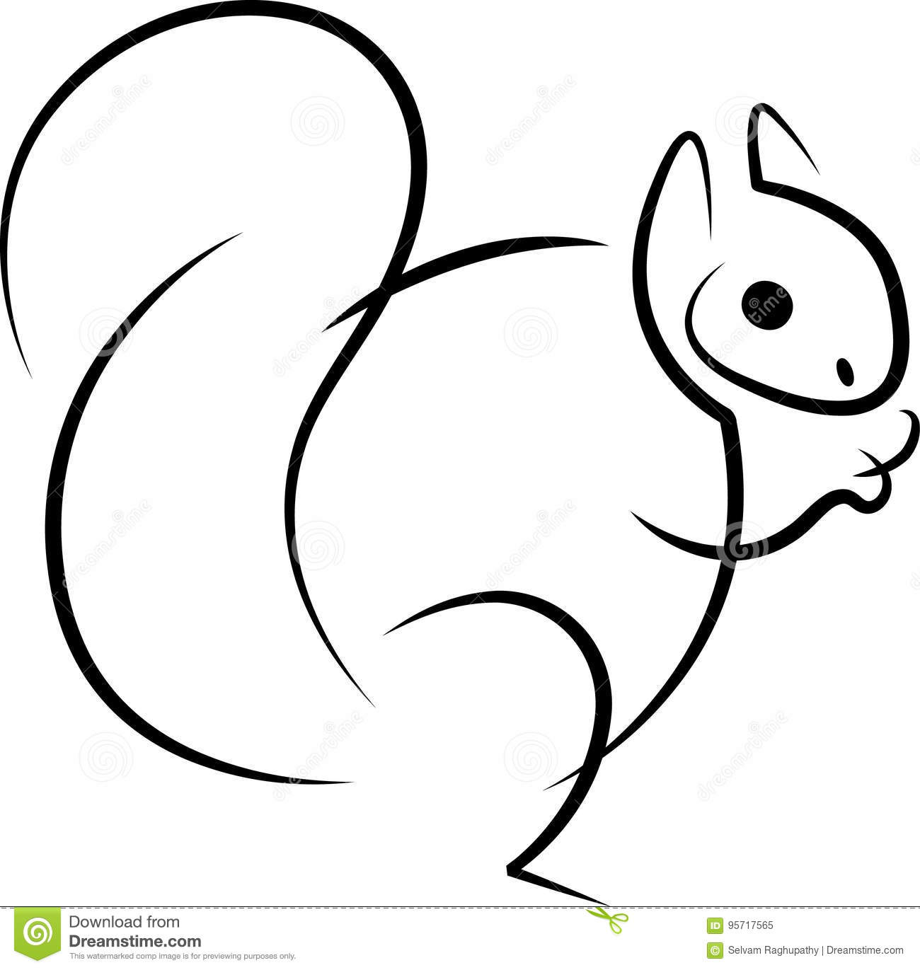 Eating Squirrel Abstract Stock Vector Illustration Of