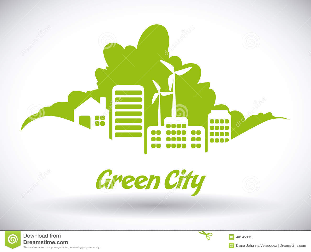 Eco City Design Vector Illustration Eps10 Graphic Stock