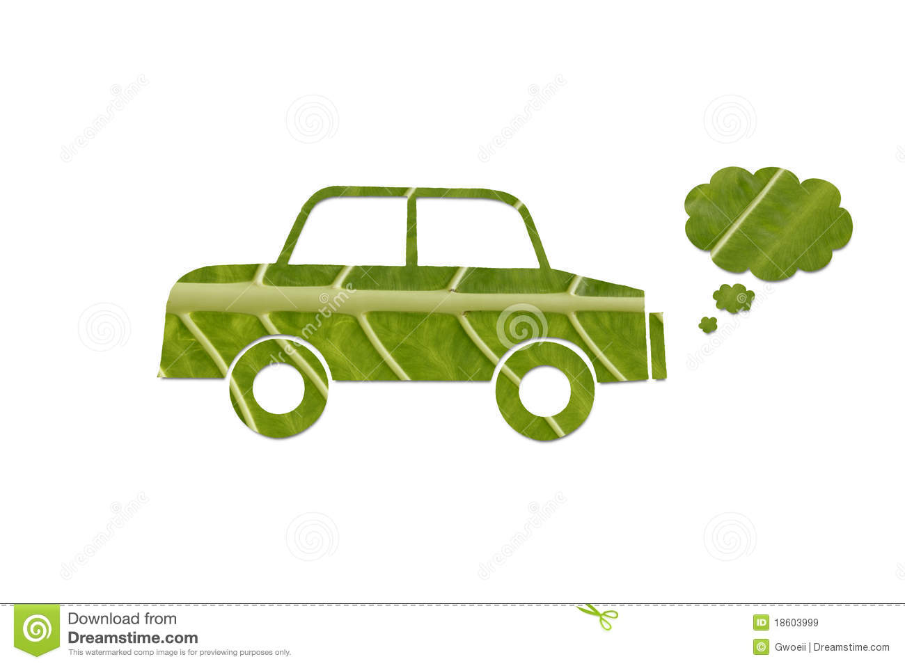 Eco Friendly Green Car Stock Image Image Of Leaf Fumes