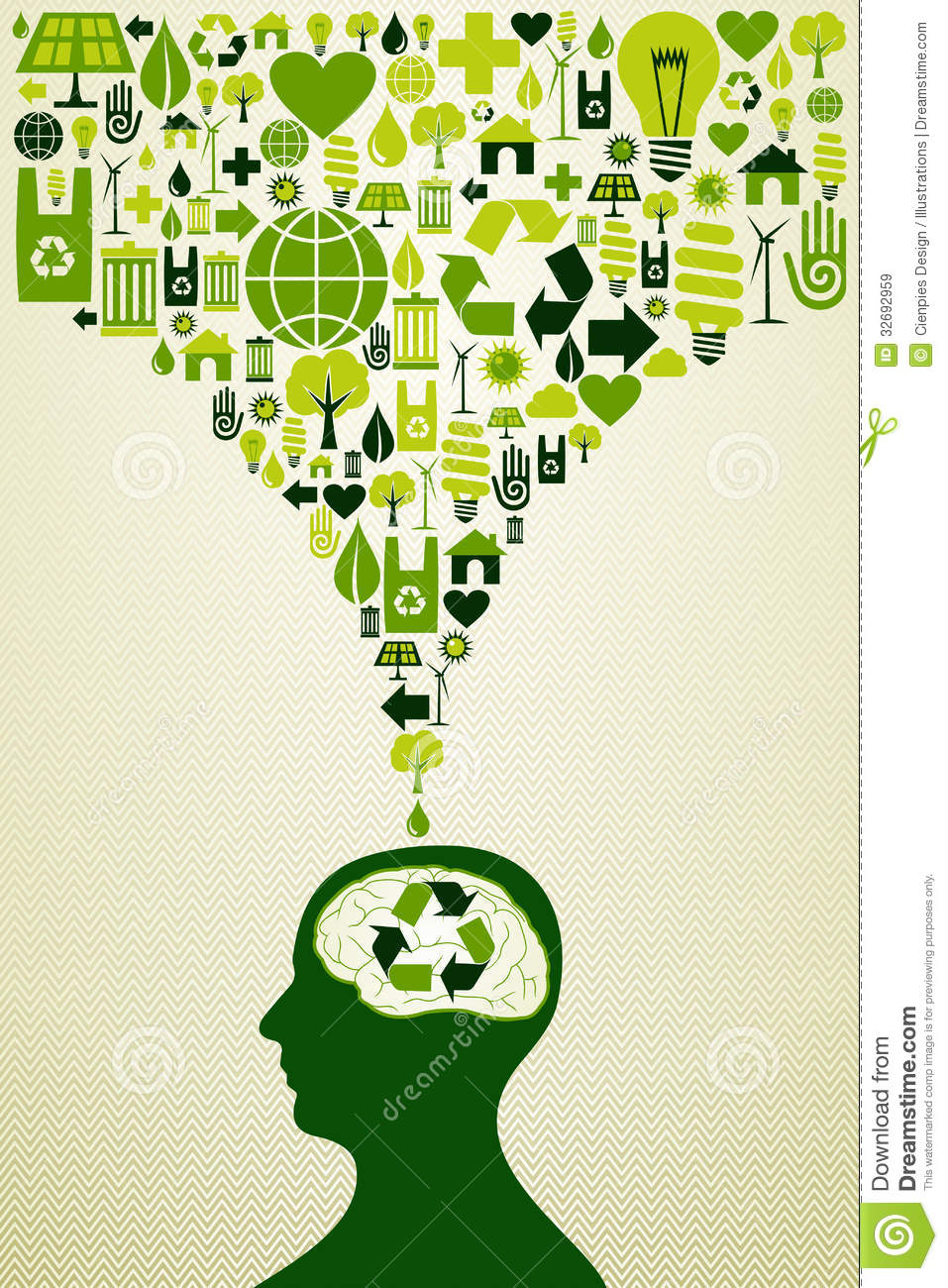 Eco Friendly Icons Illustration Stock Vector Image 32692959
