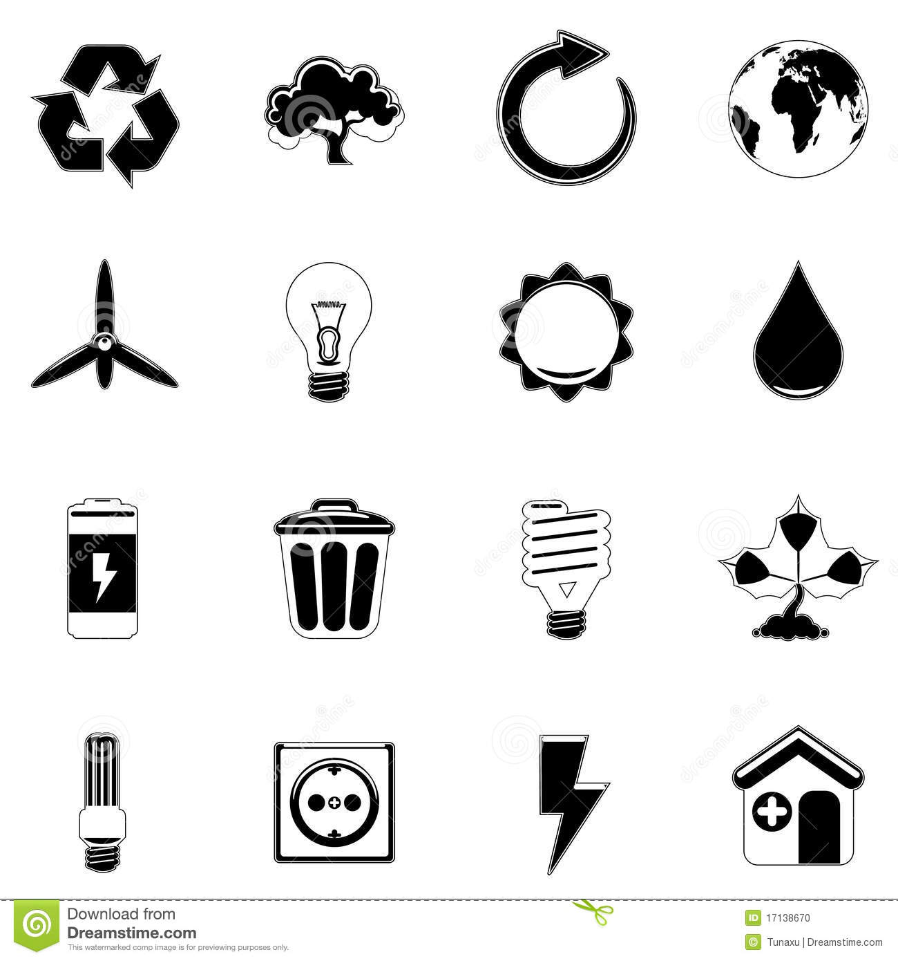 Ecology And Energy Icon Stock Vector Illustration Of