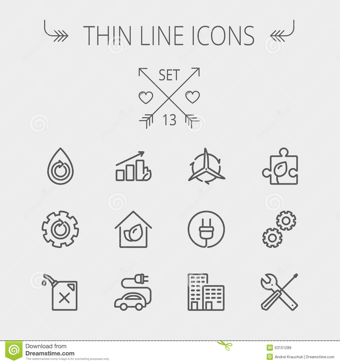 Ecology Thin Line Icon Stock Vector Image Of Electric