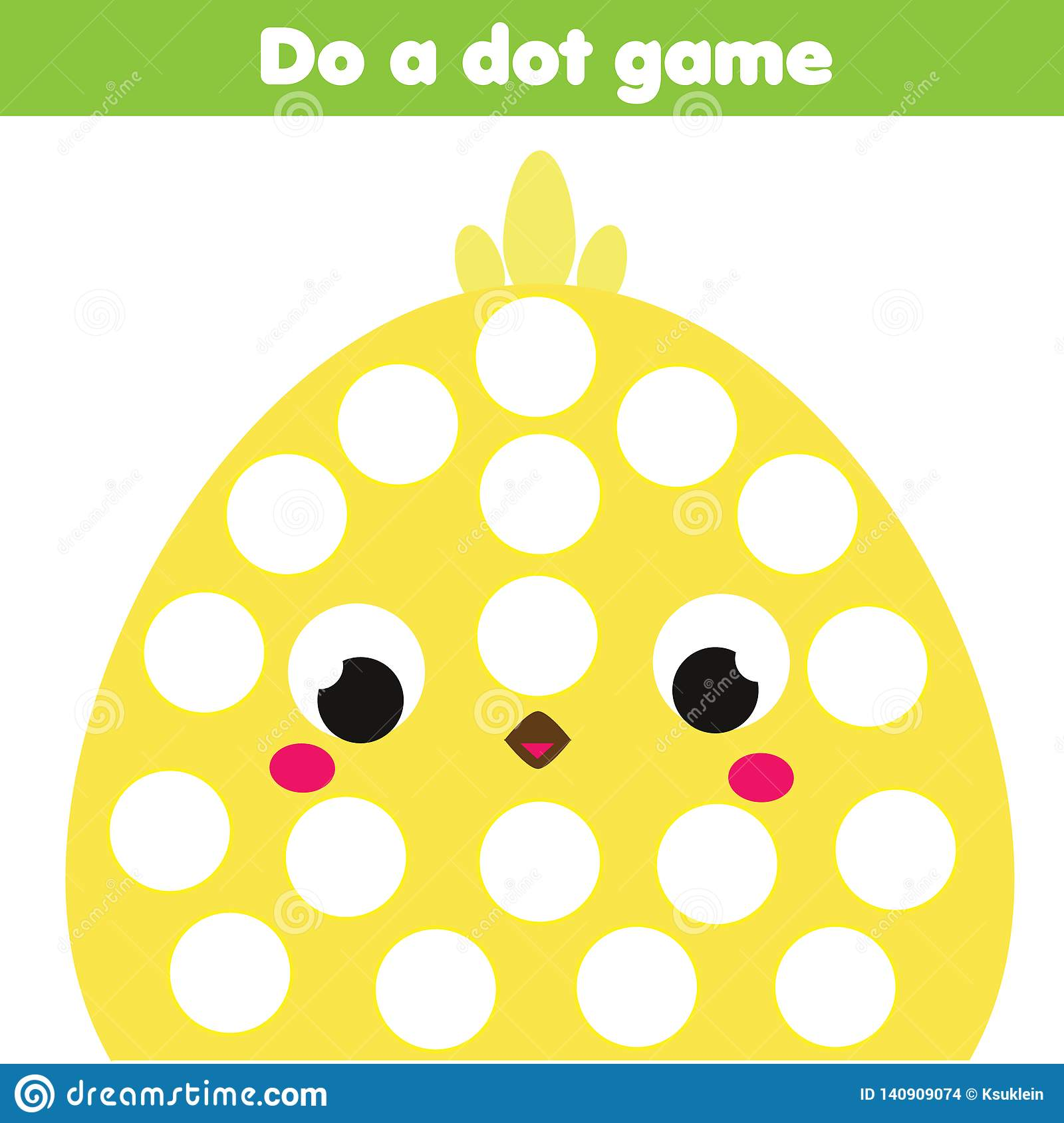 Eduational Children Game Do A Dot For Kids And Toddlers