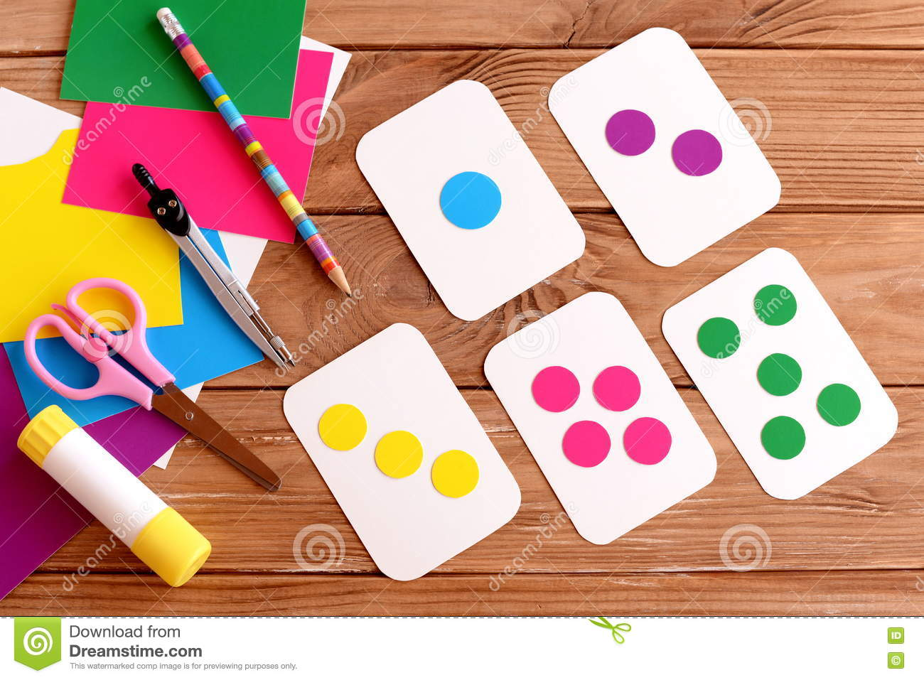Education Cards For Kids Learning Colours Teaching