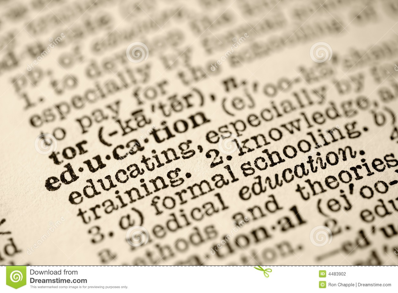 Education In Dictionary Stock Photography