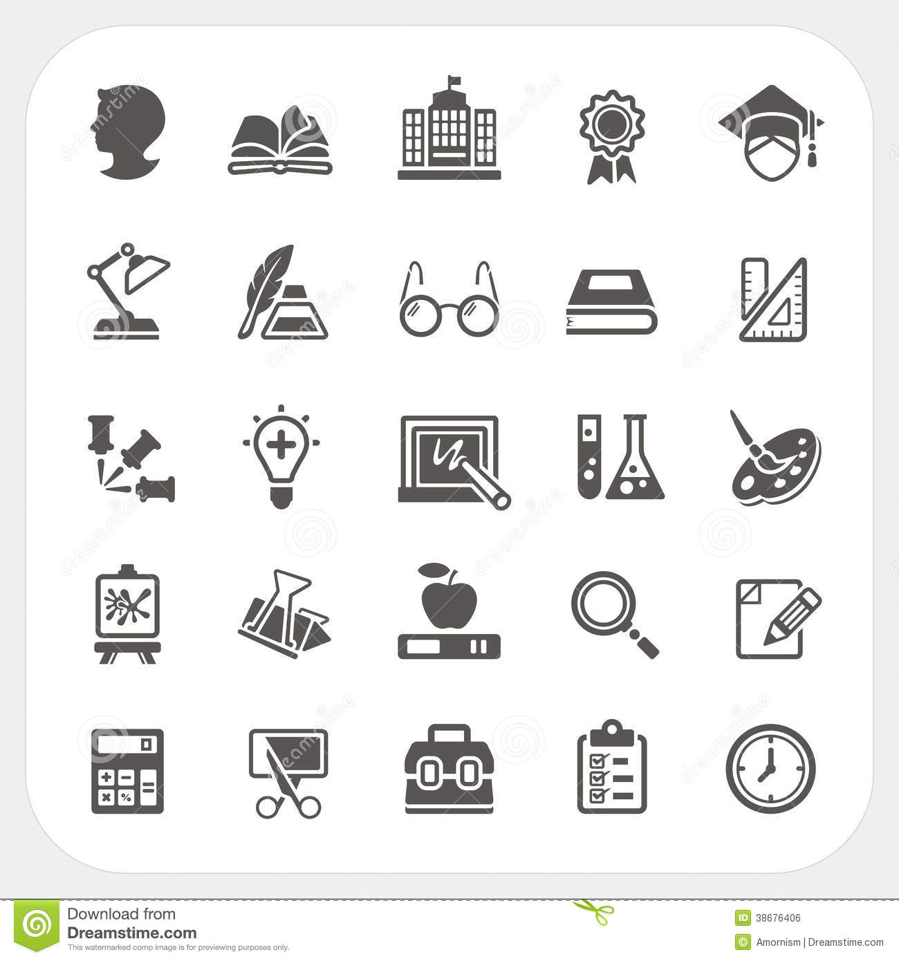 Education Icons Set Stock Vector Illustration Of Clip
