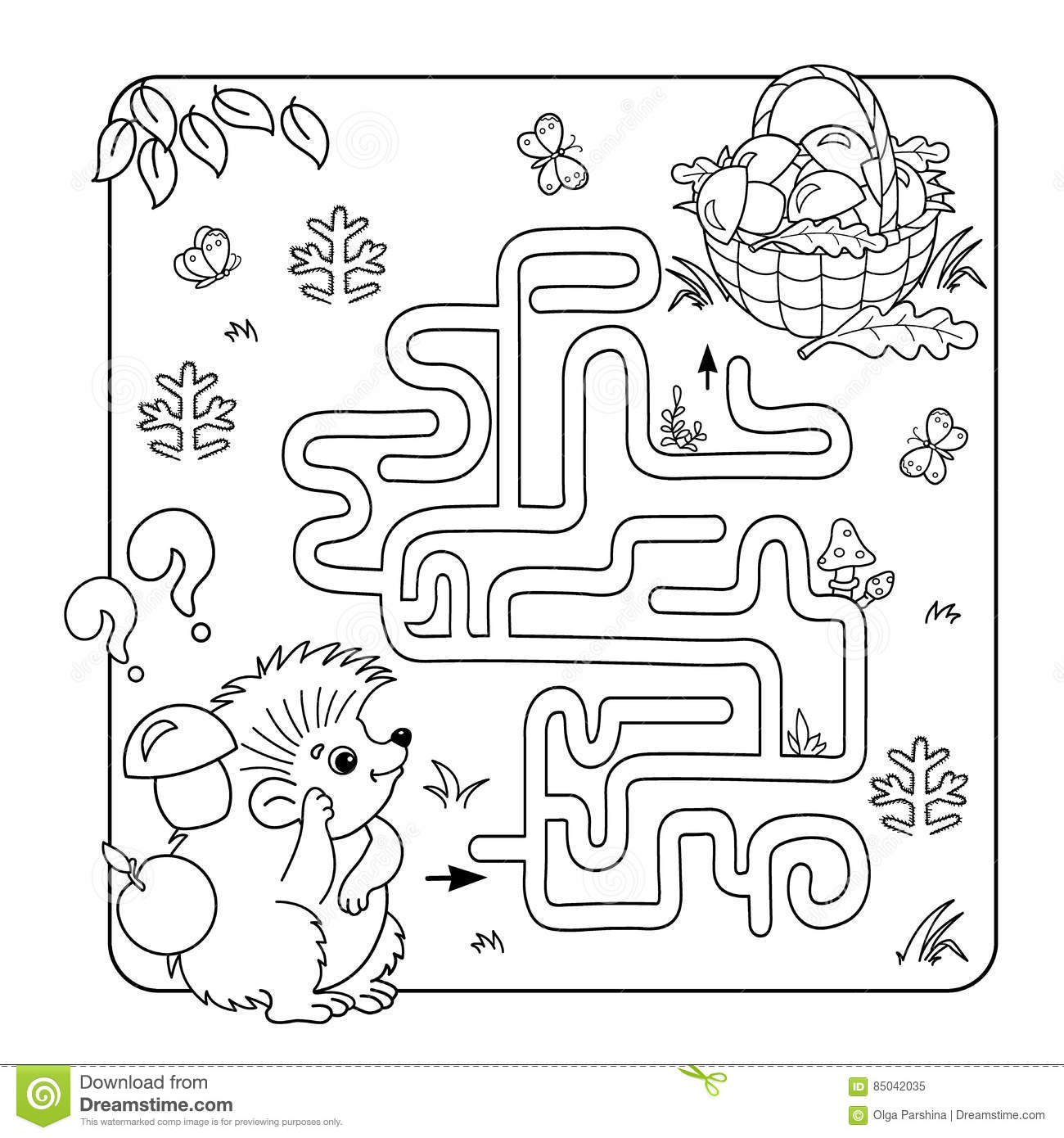 Education Maze Or Labyrinth Game For Preschool Children Puzzle Stock Vector