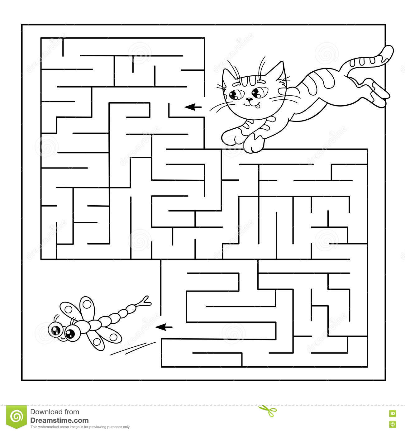 Vase Preschool Maze Worksheet