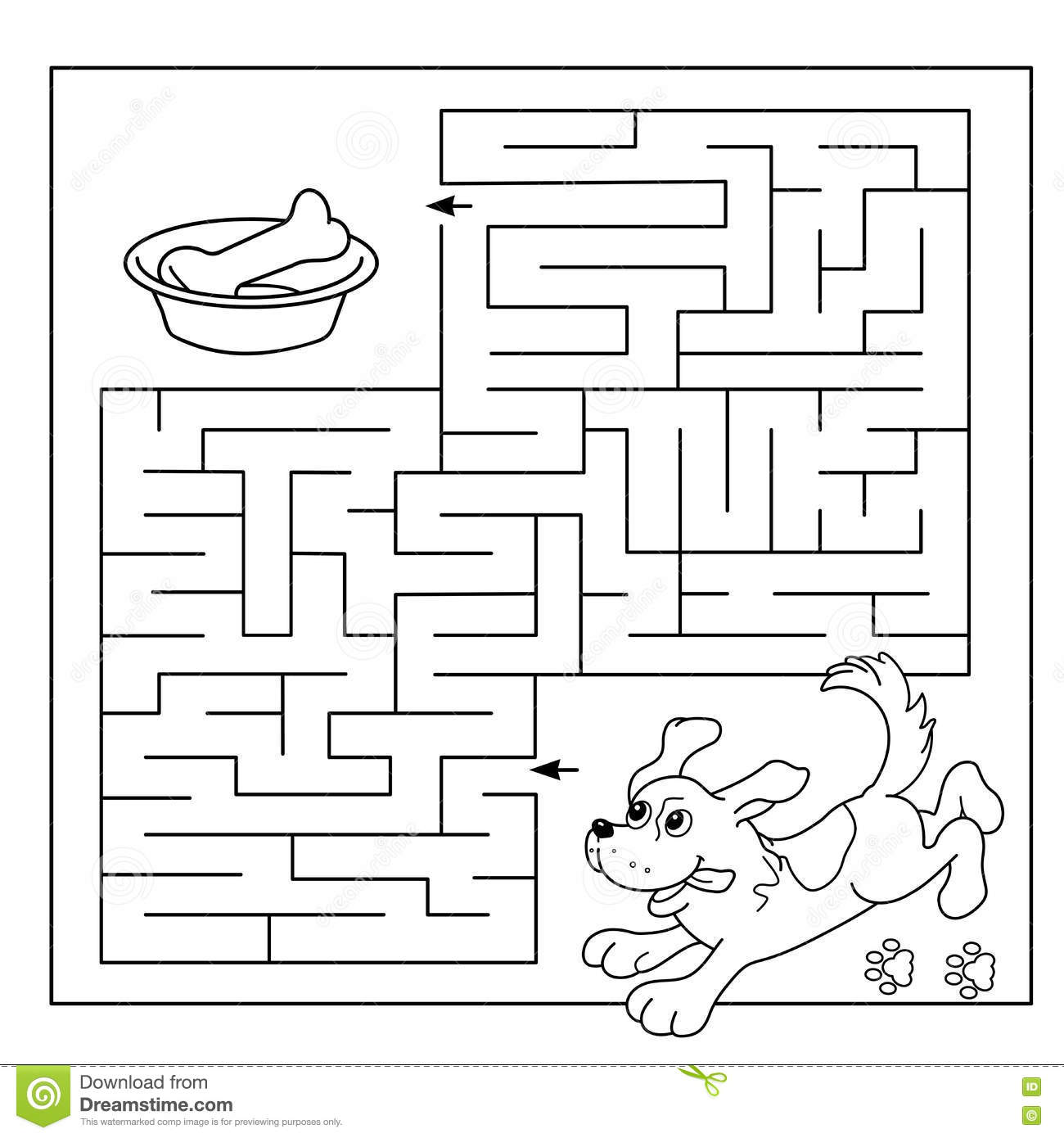 Education Maze Or Labyrinth Game For Preschool Children