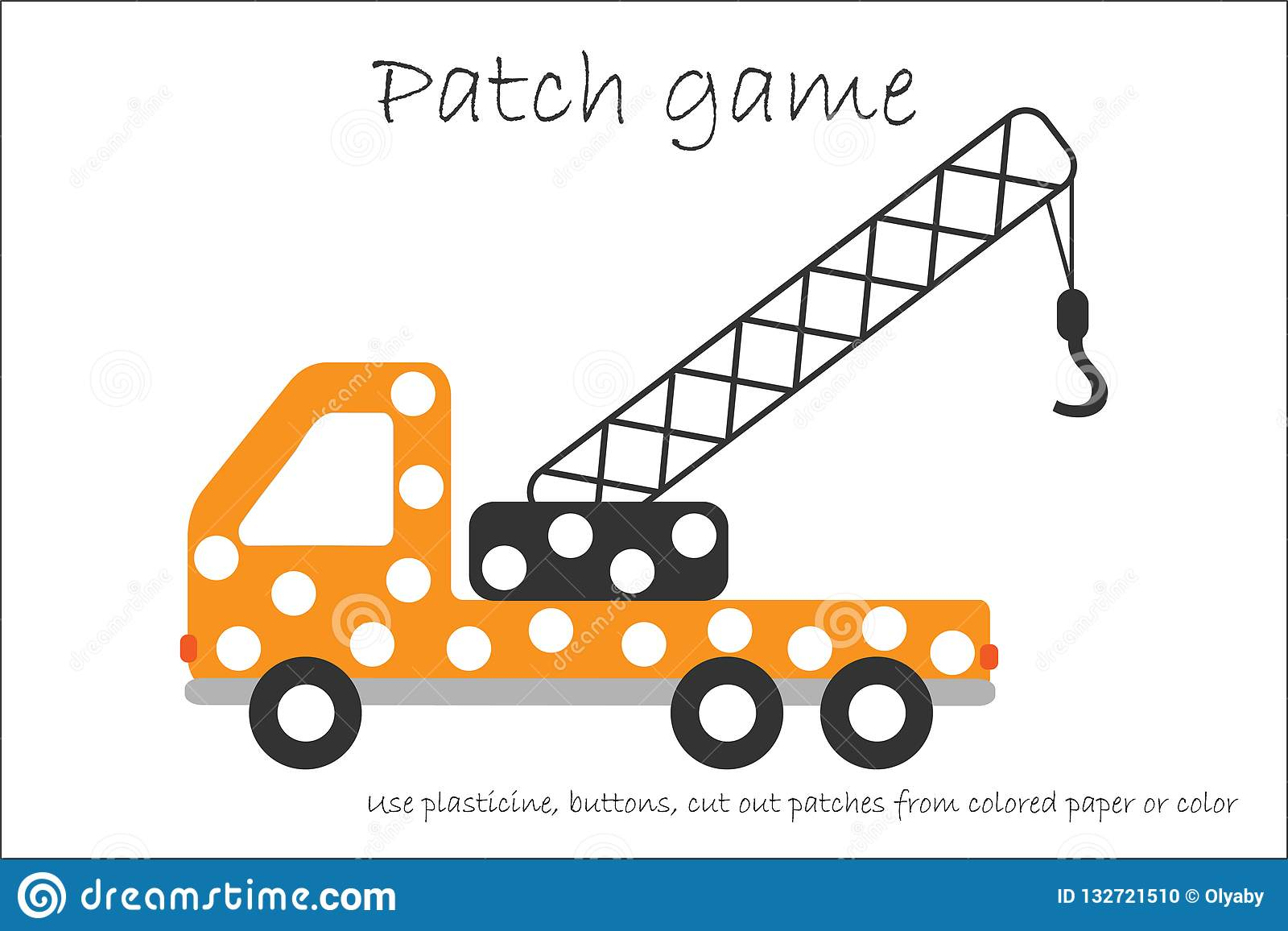 Education Patch Game Truck Crane For Children To Develop