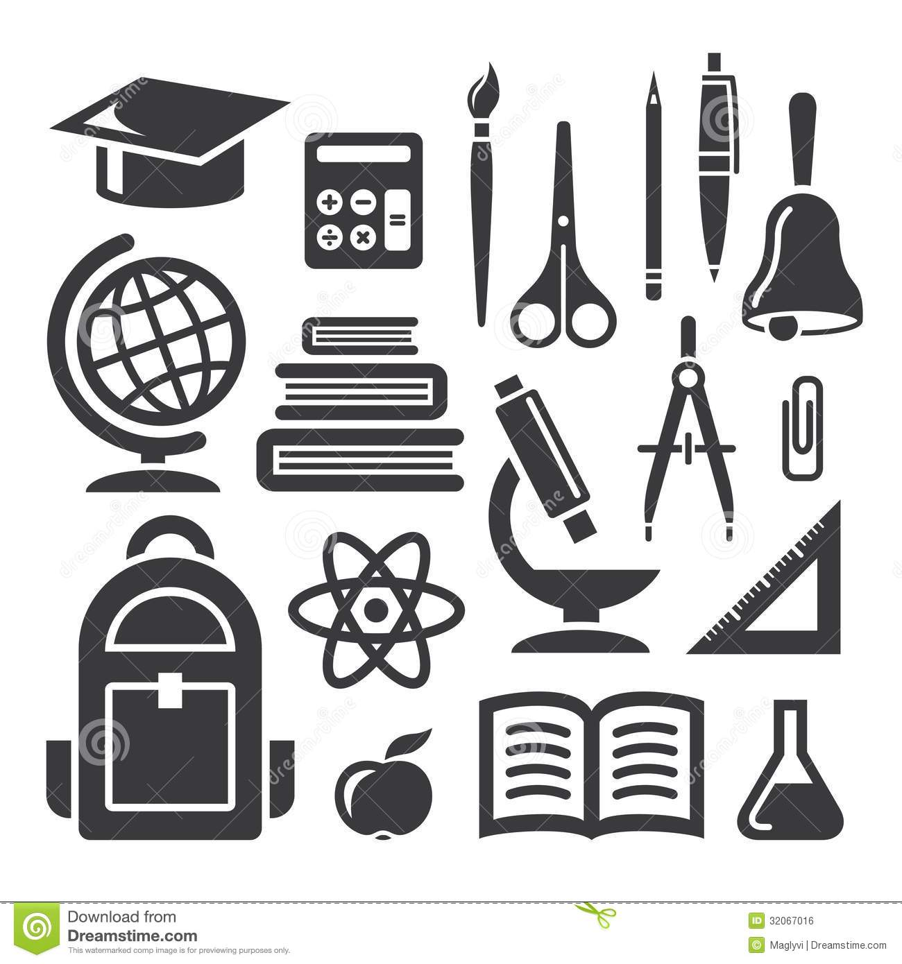 Education And Science Symbols Stock Vector