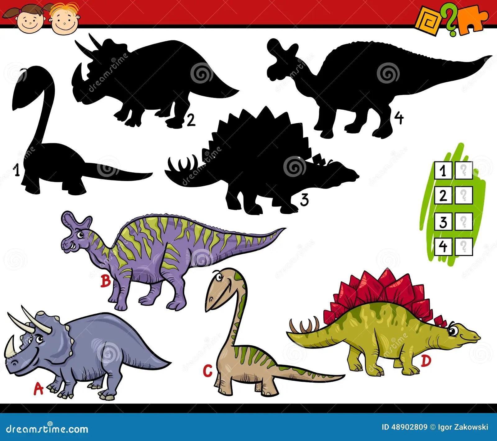 Education Shadows Game Cartoon Stock Vector