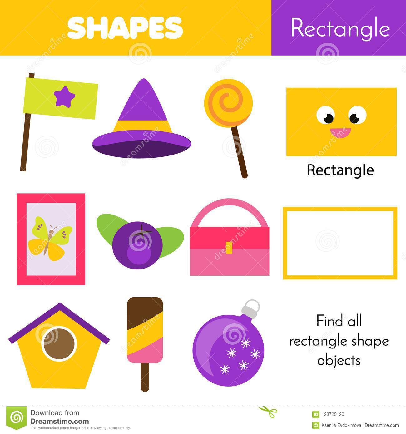 Educational Children Game Learning Geometric Shapes