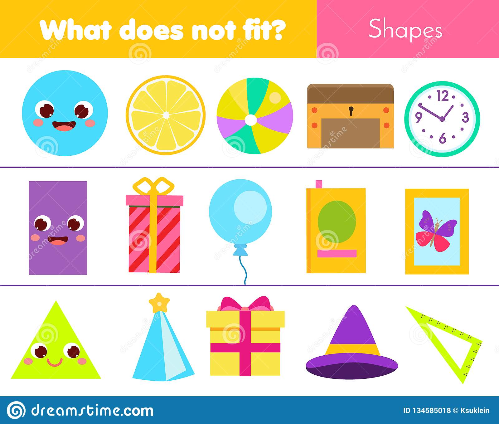 Shapes And Objects Pictures For Kids