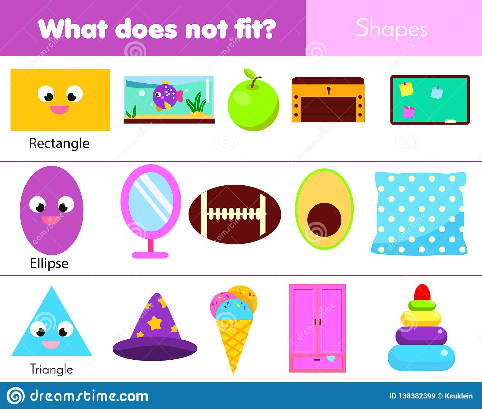 Educational Children Game Logic Game What Does Not Fit