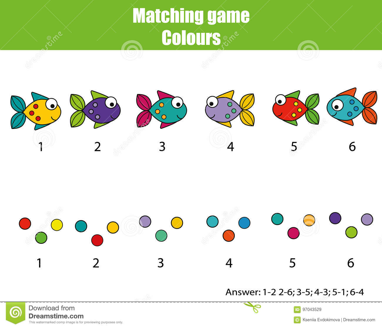 Preschool Worksheet Gallery Preschool Colour Matching