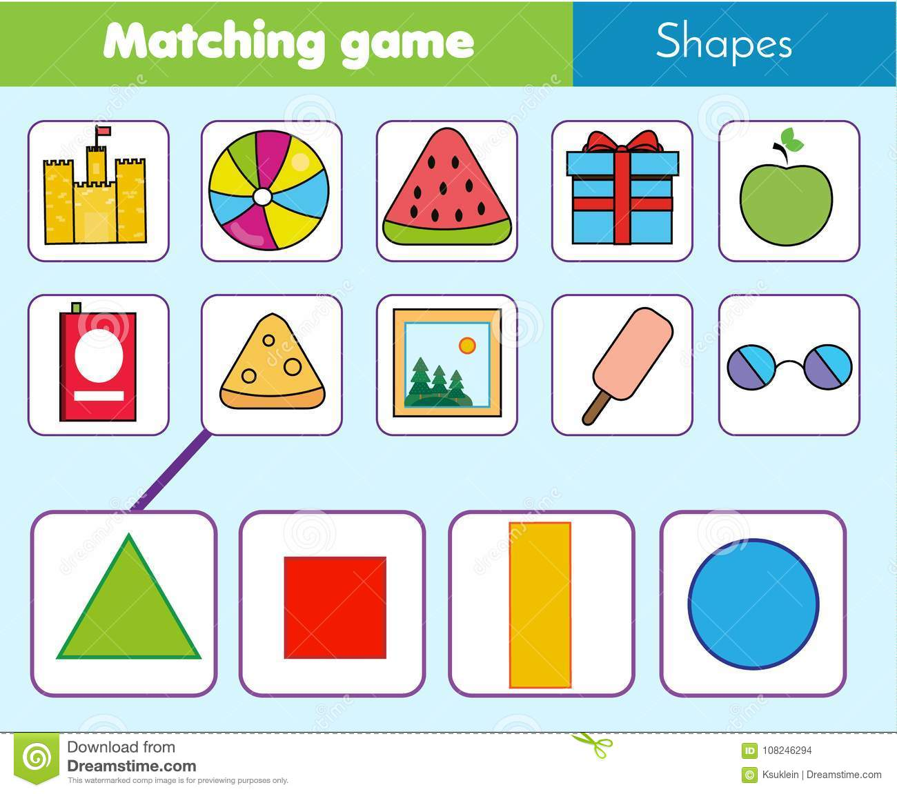 Color Matching Game Worksheet