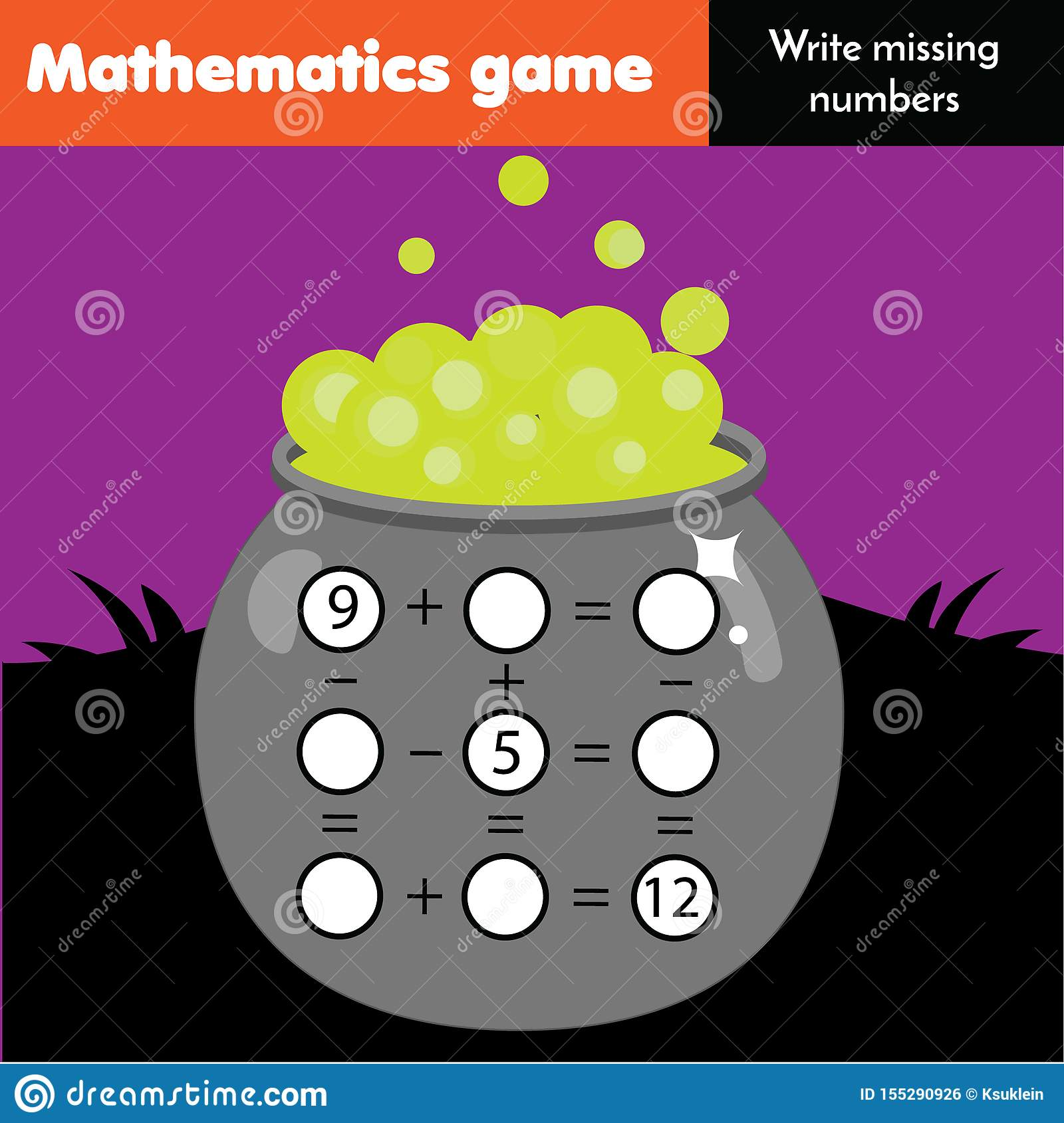 Educational Game For Children Complete Equations Study