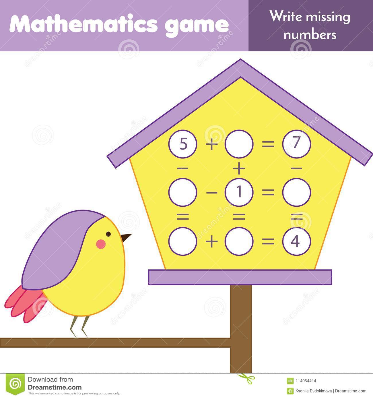 Educational Game For Children Counting Equations Study