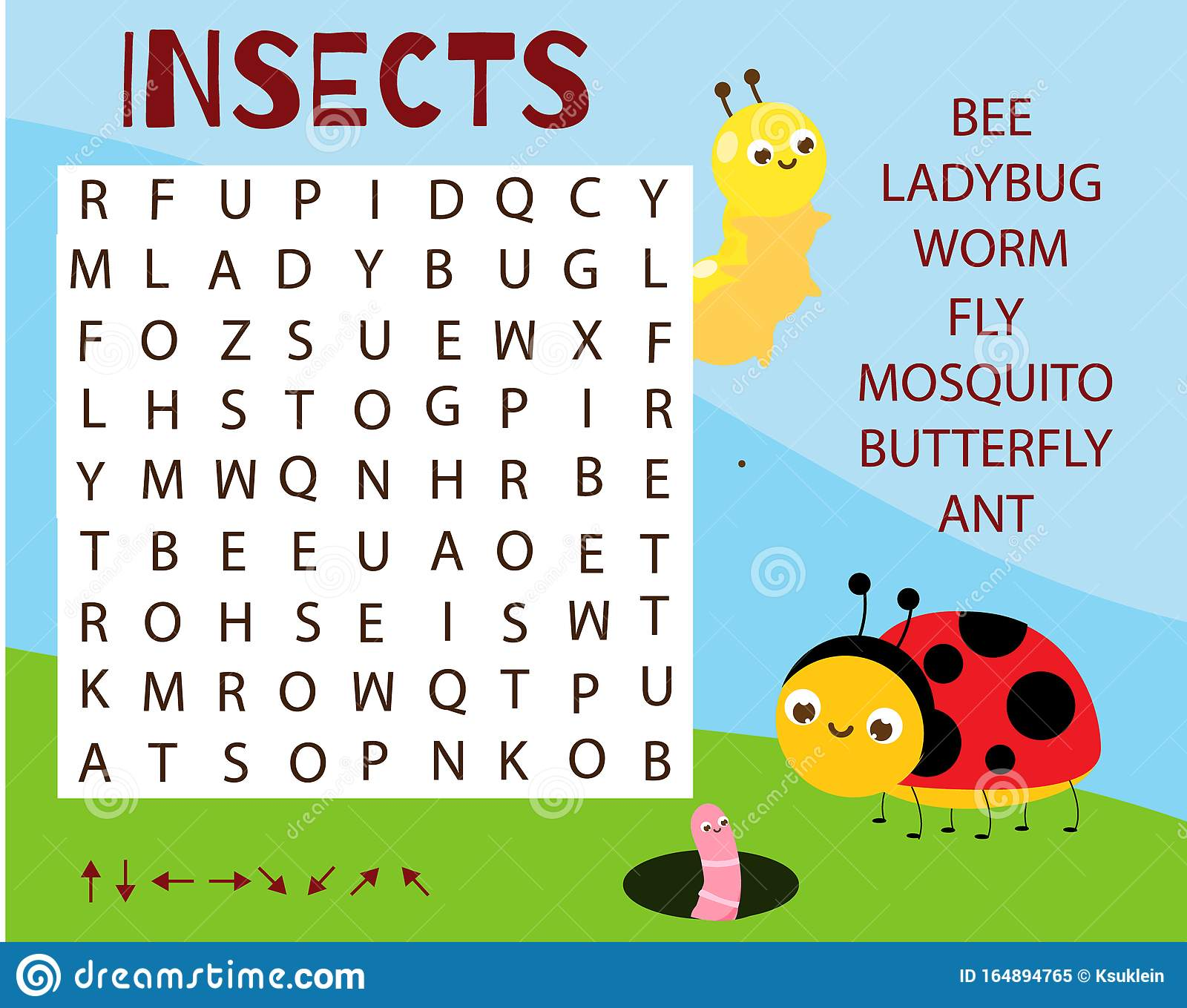 Educational Game For Children Word Search Puzzle Learn