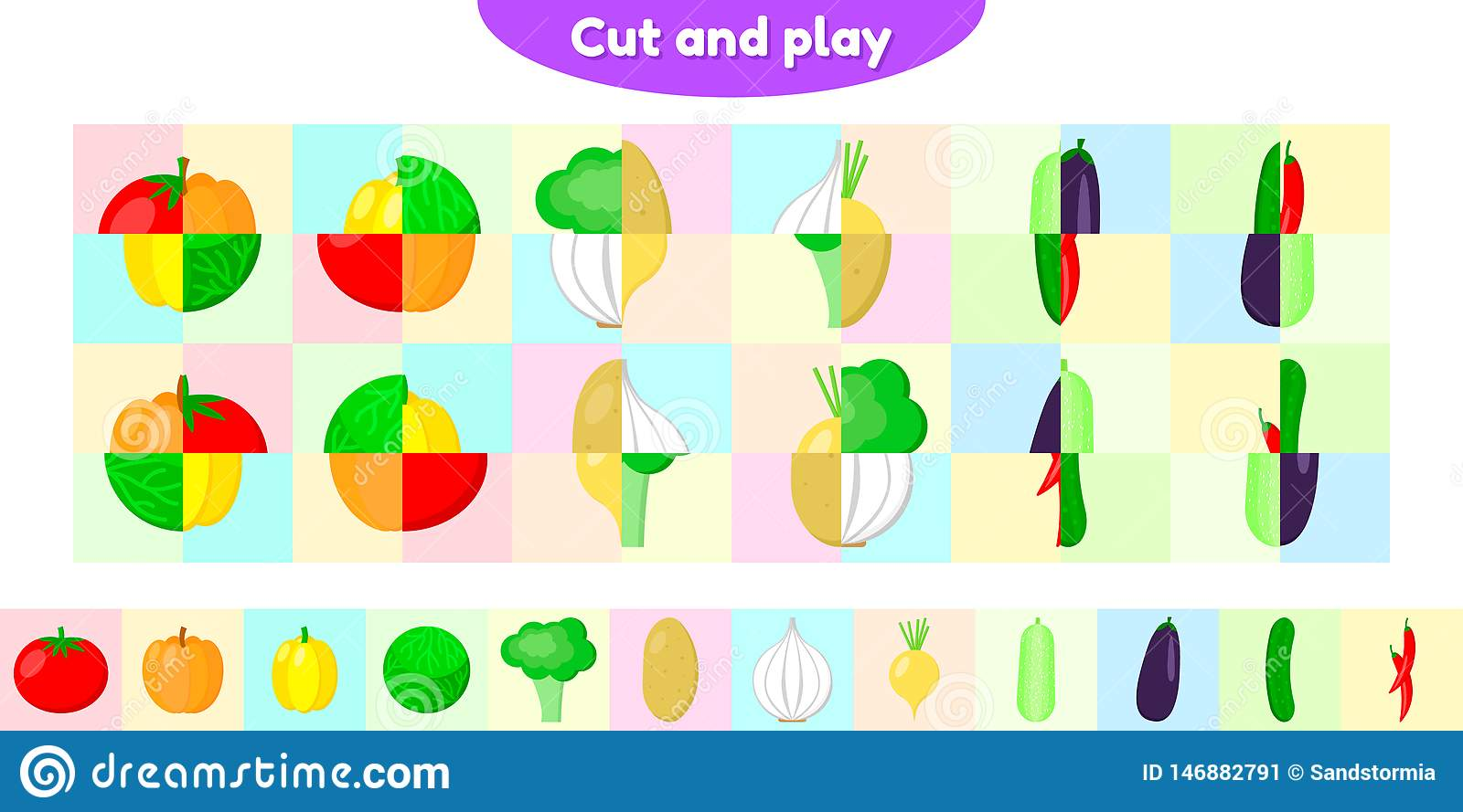 Educational Game For Preschool And School Age Children