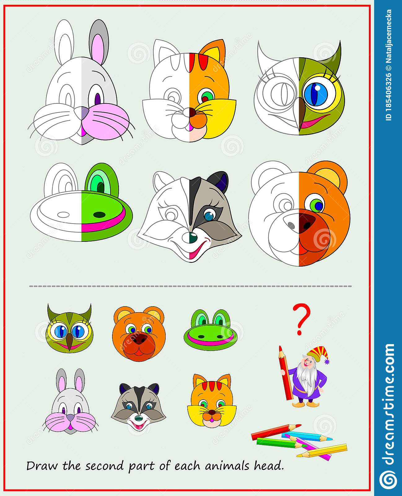 Educational Page For Kids Textbook Draw The Second Part