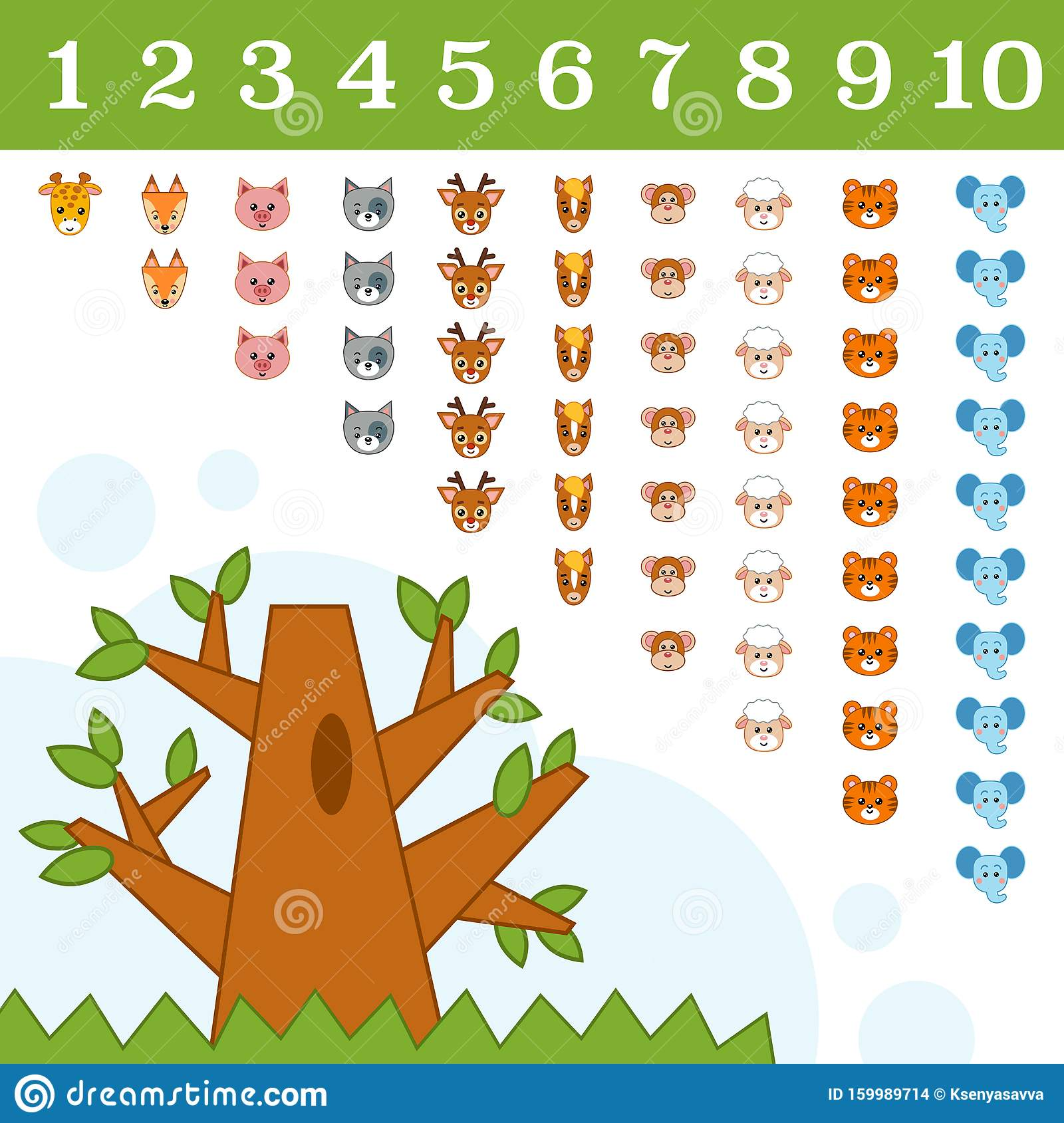 Educational Poster For Children About Numbers From One To
