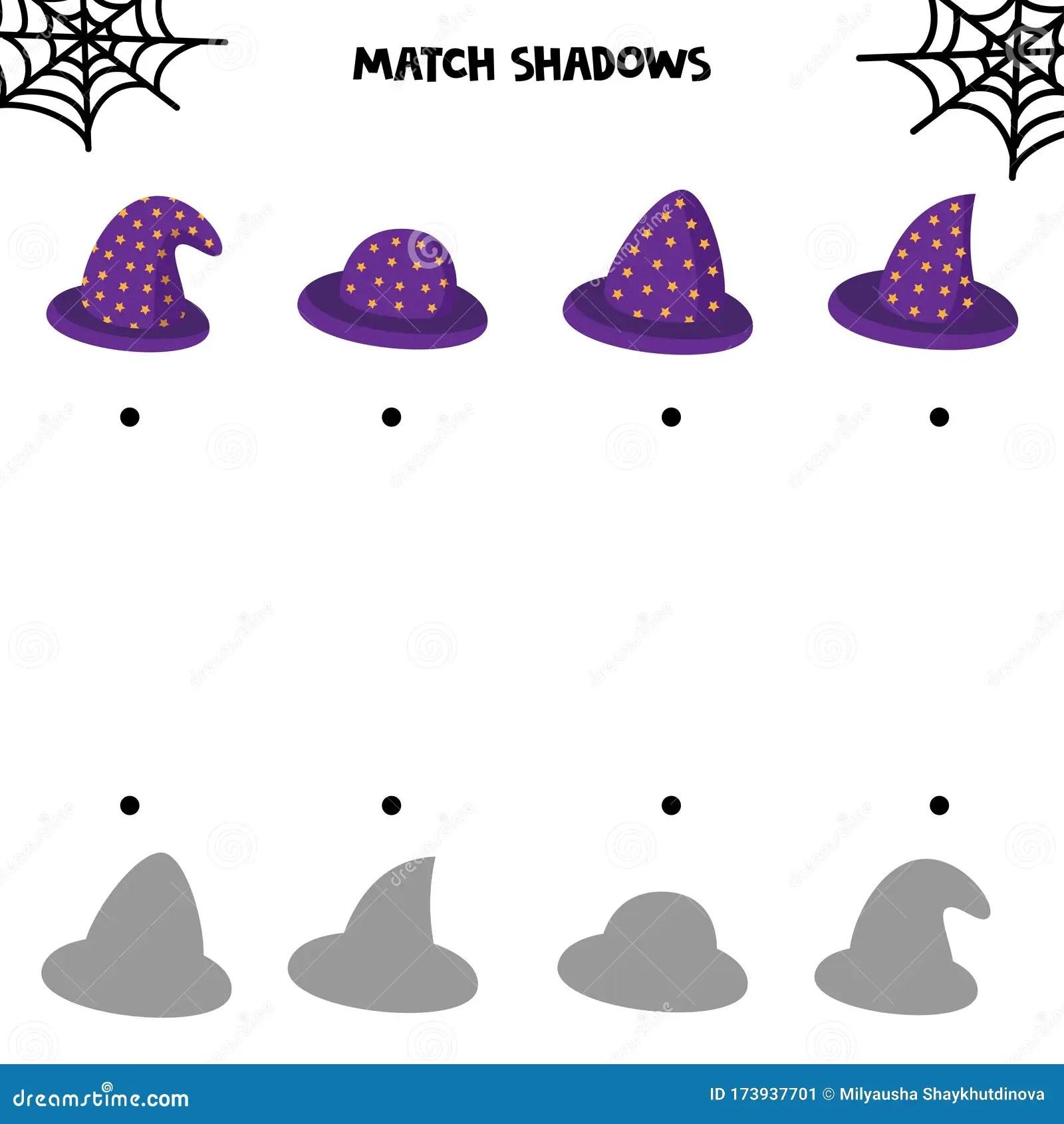 Educational Worksheet For Kids Halloween Games Match