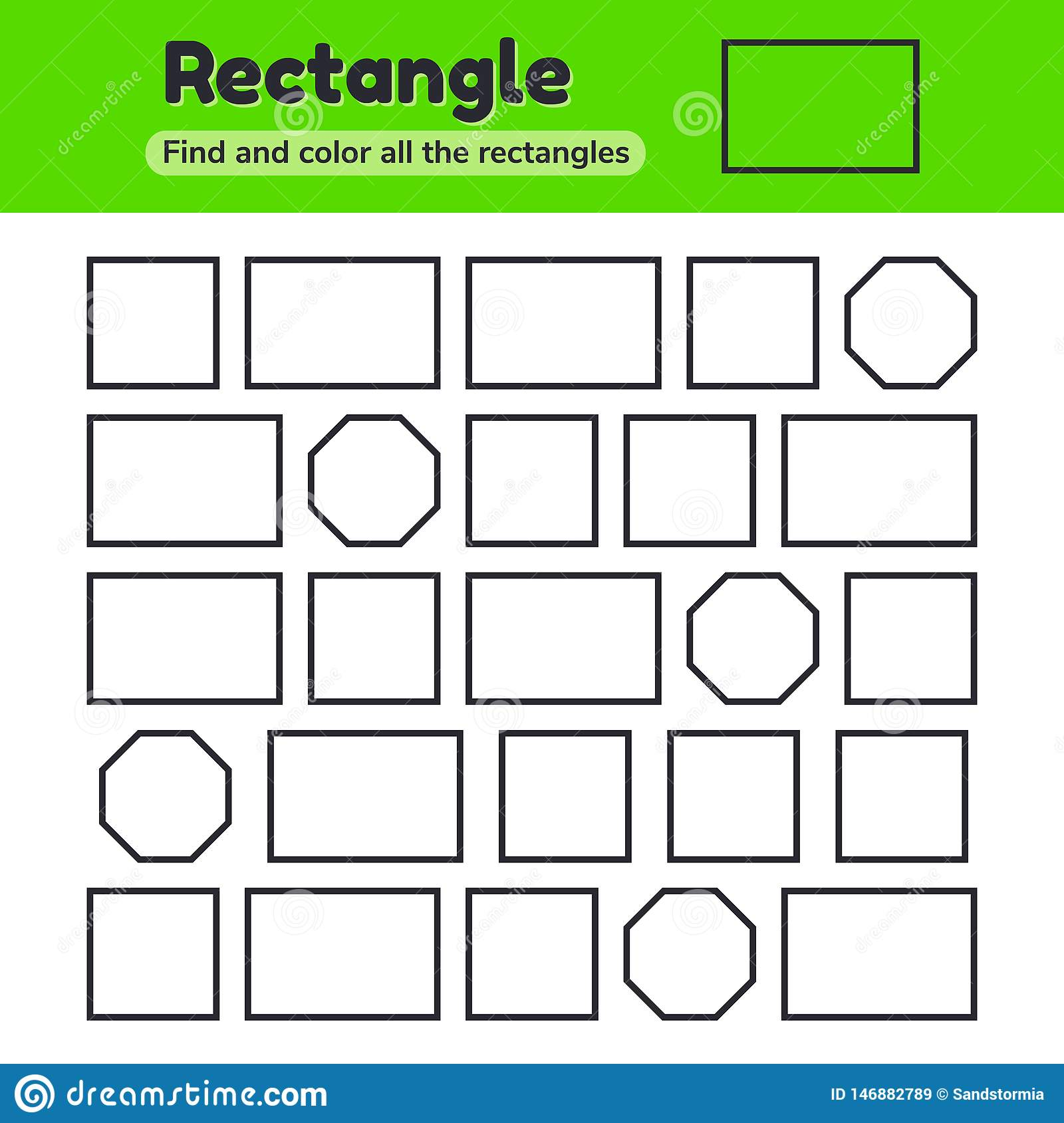Educational Worksheet For Kids Kindergarten Preschool And