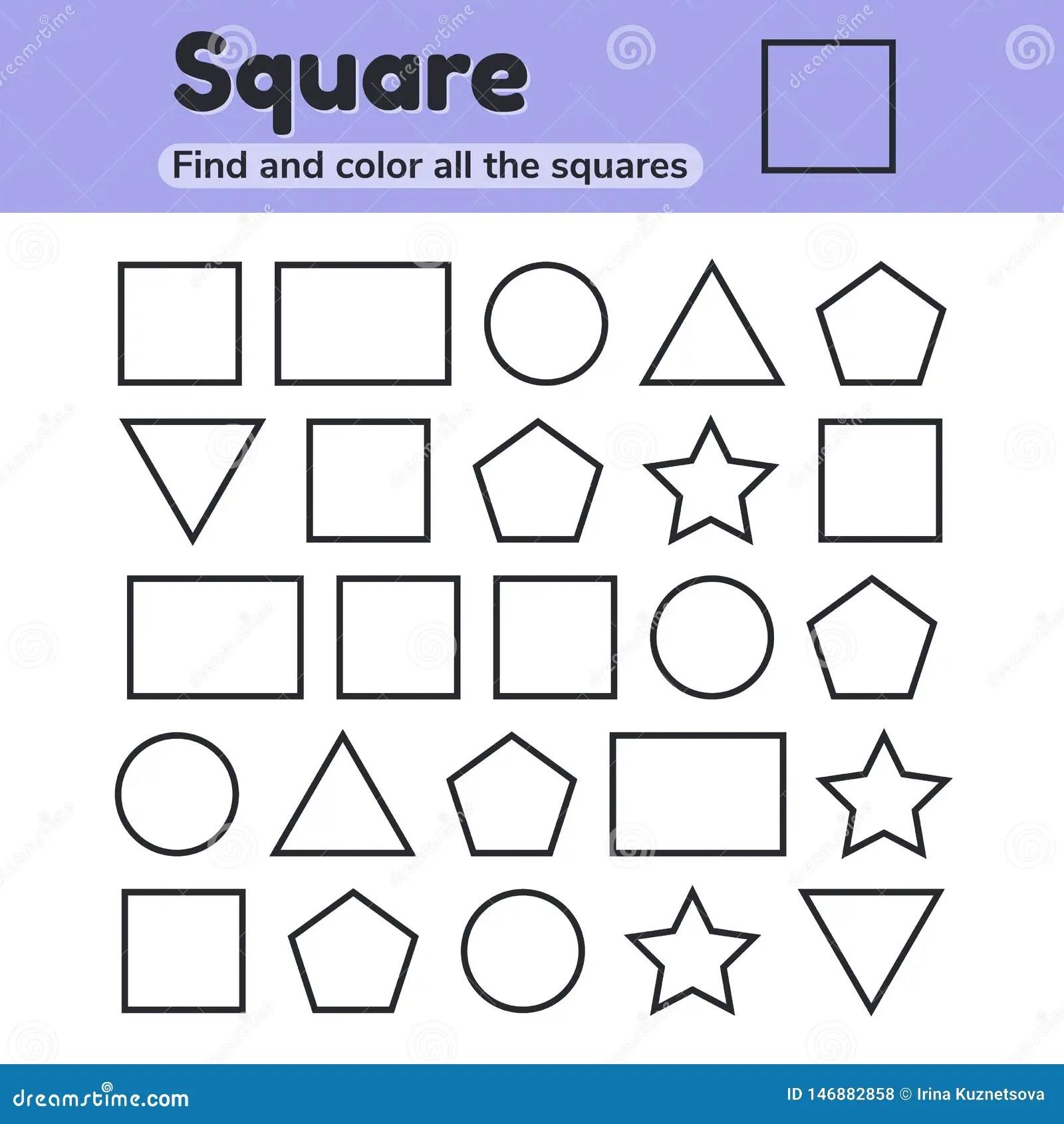 Educational Worksheet For Kids Kindergarten Preschool And