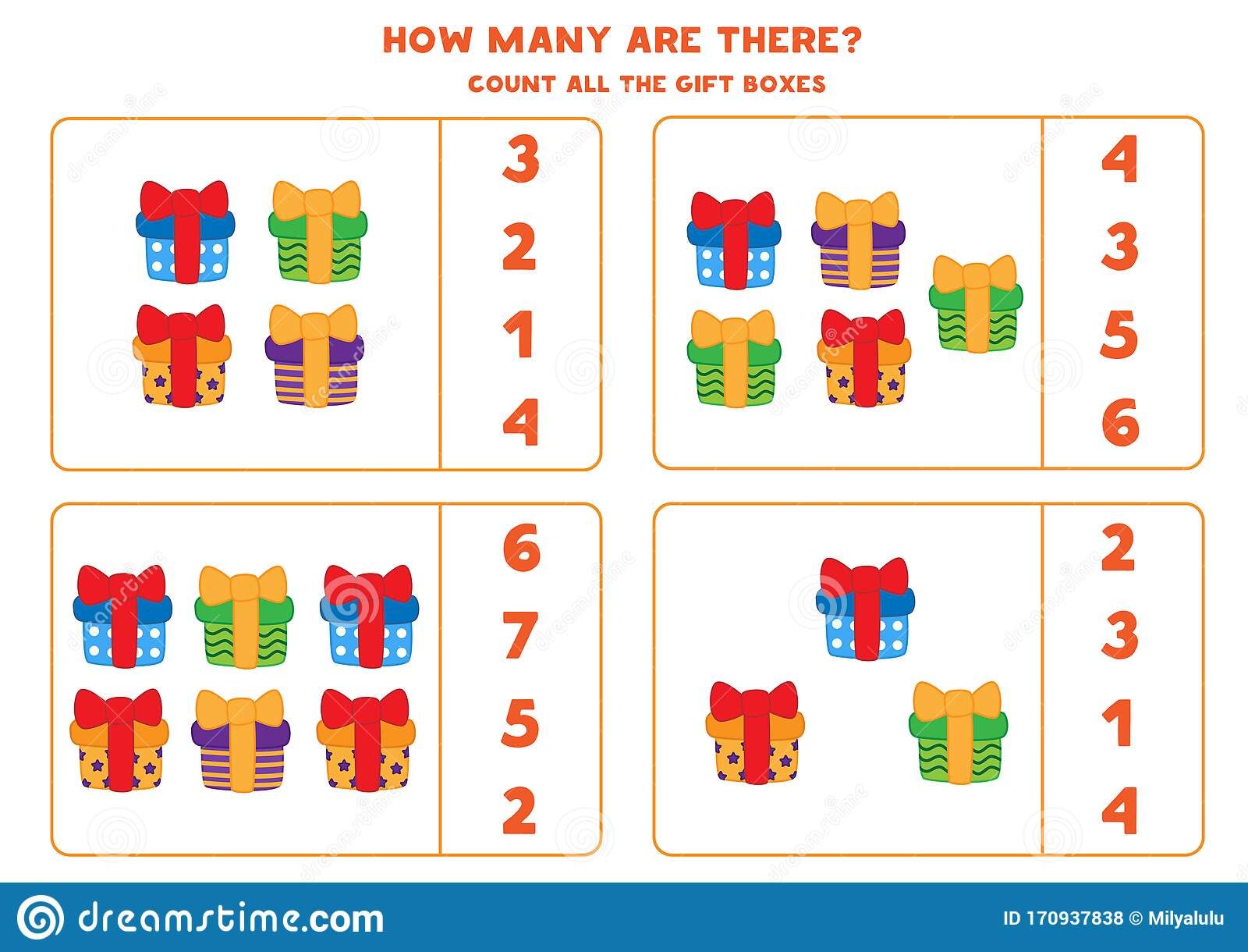 Educational Worksheet For Preschool Kids Count The