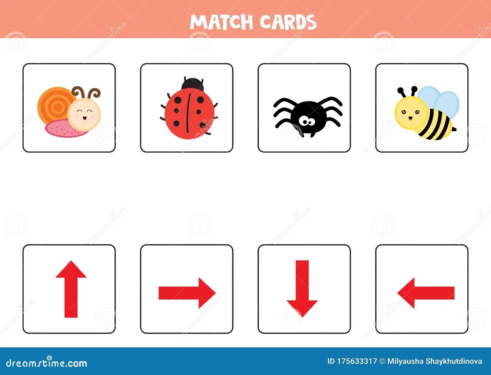 Educational Worksheet For Preschool Kids Match Cards