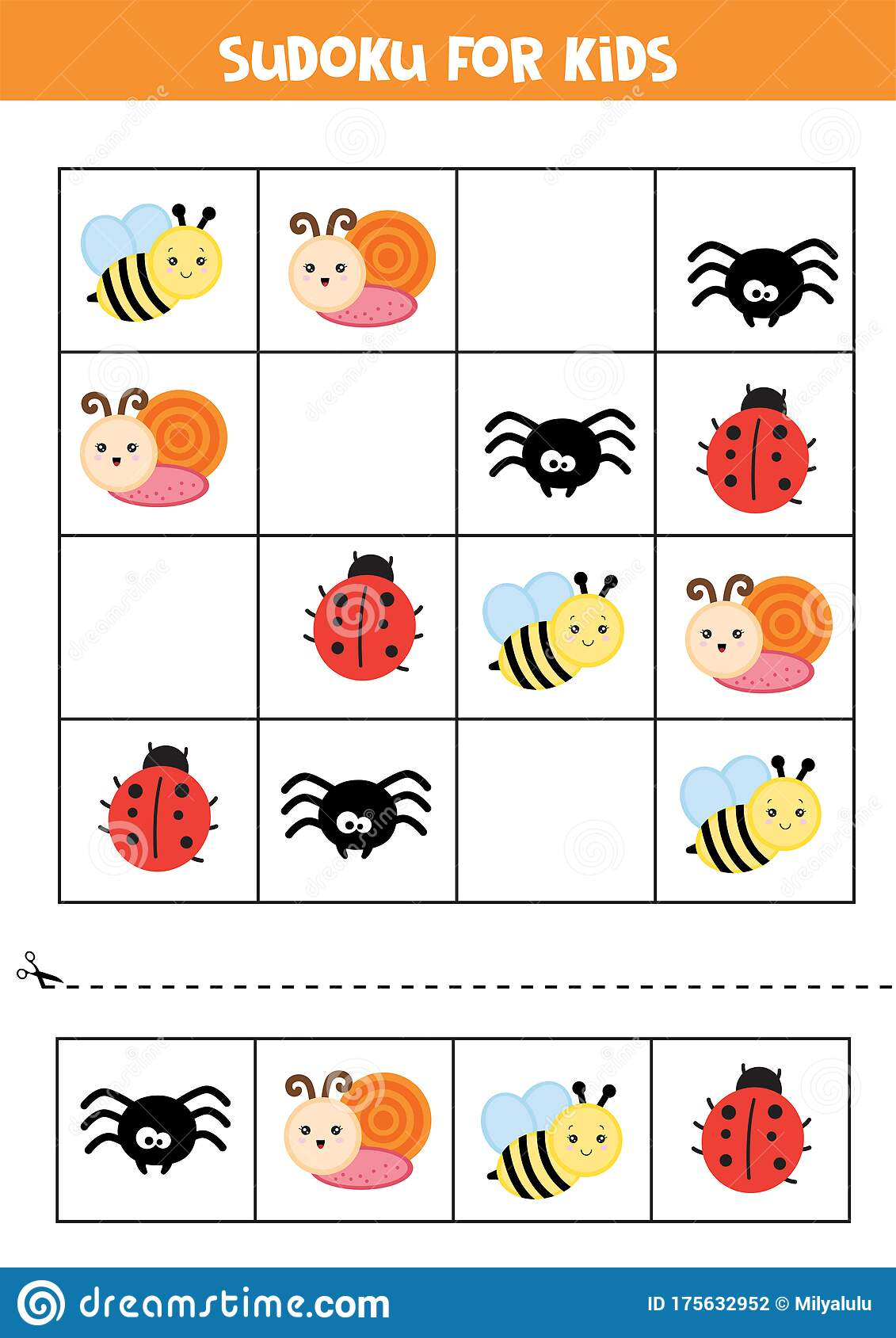 Educational Worksheet For Preschool Kids Sudoku For Kids