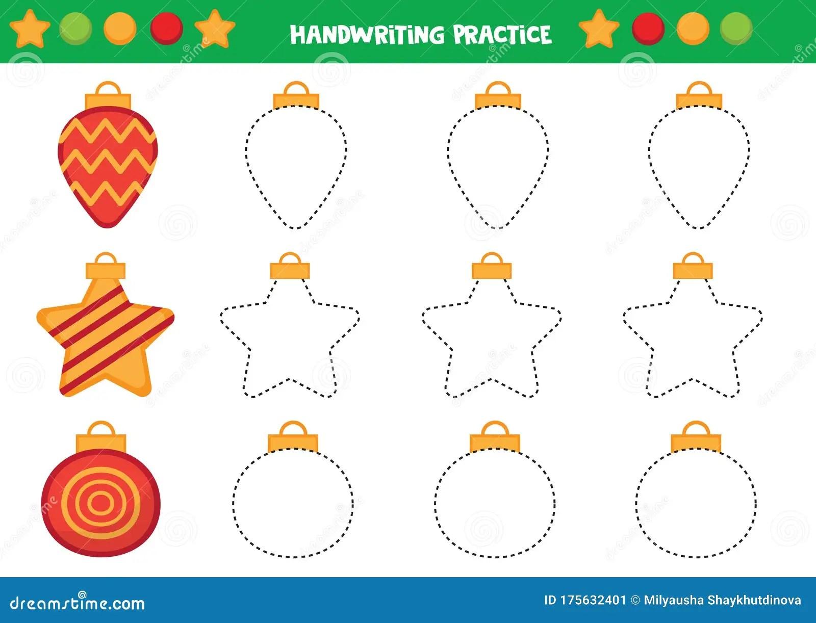 Educational Worksheet For Preschool Kids Trace The