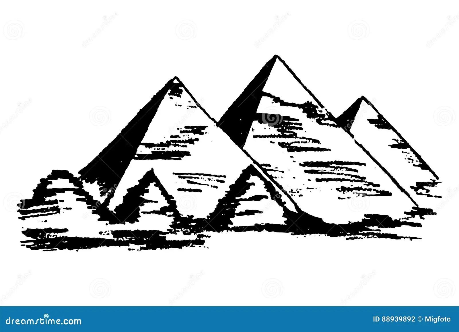 Egyptian Pyramids Vector Stock Vector Illustration Of