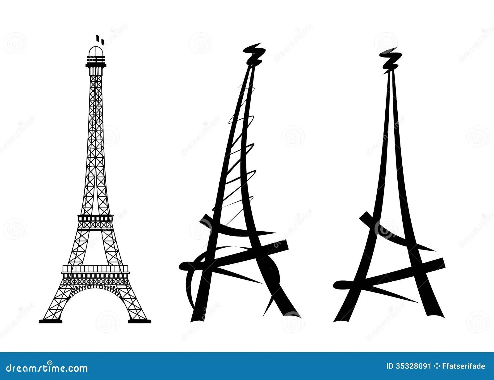 Eiffel Tower Stock Illustration Illustration Of Symbol