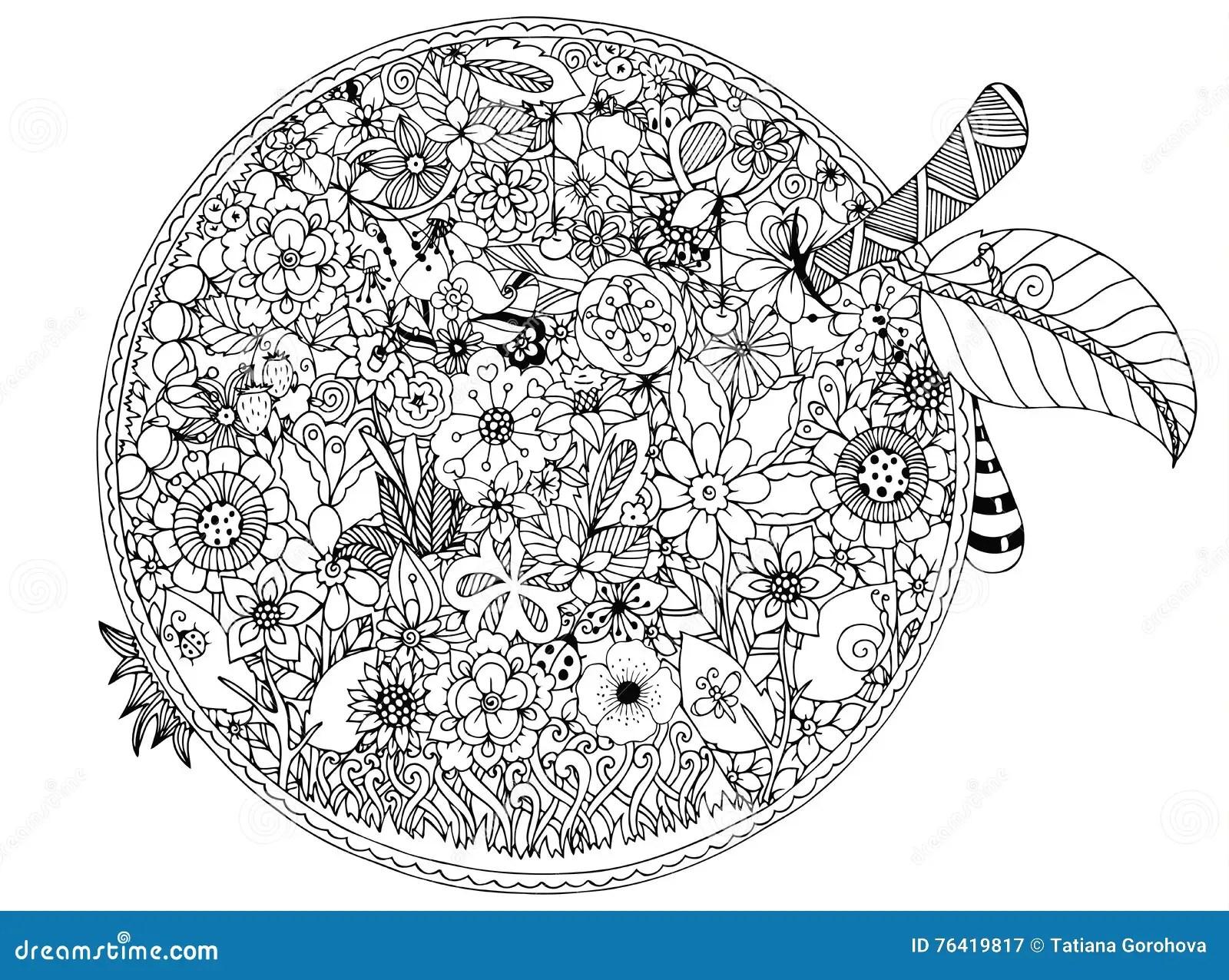 Ejemplo Del Vector Flores De La Manzana Dibujo Del
