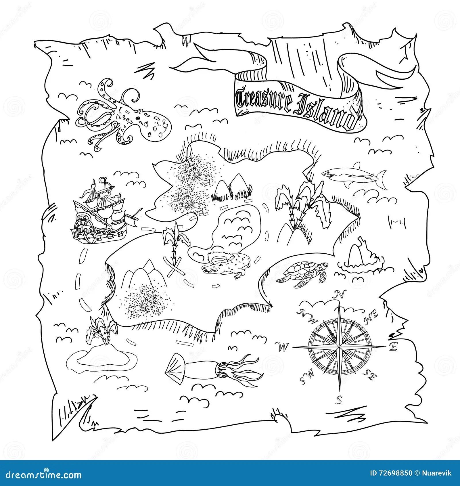 El Mapa De La Isla Del Tesoro Embroma La Pagina Del