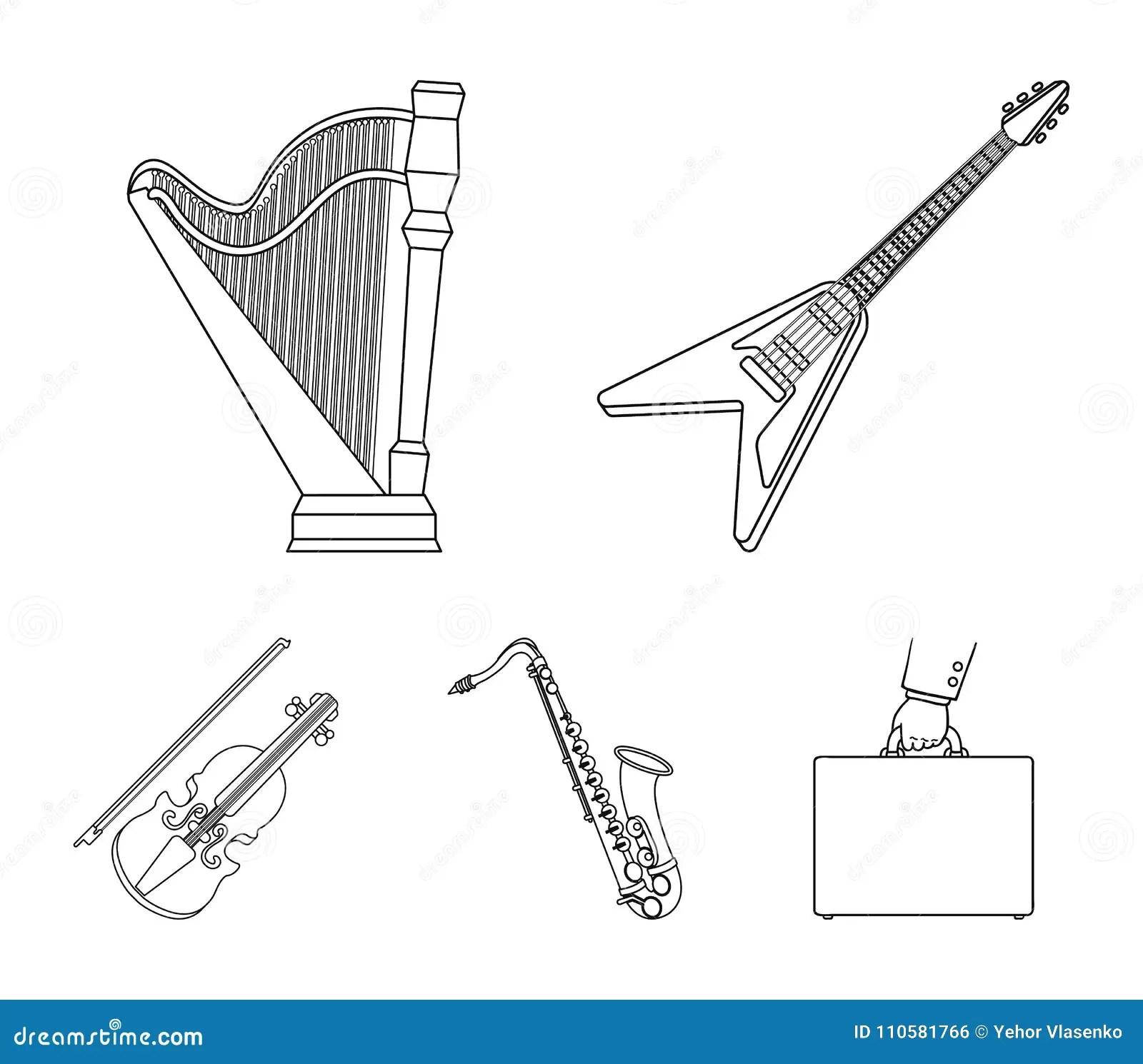 Electric Guitar Loudspeaker Harp Saxophone Violinsic