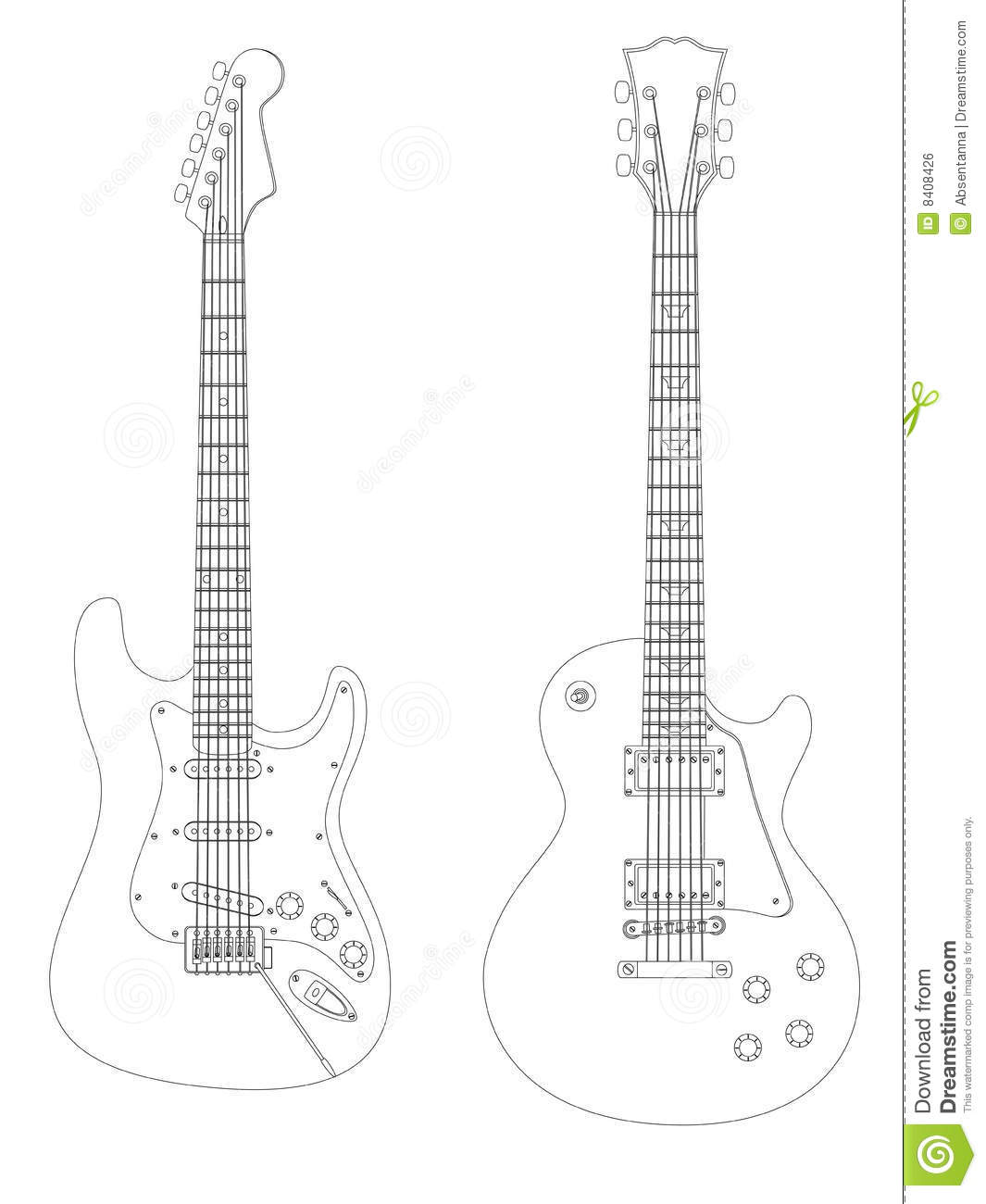 Electric Guitars Stock Vector Image Of Electric Isolated