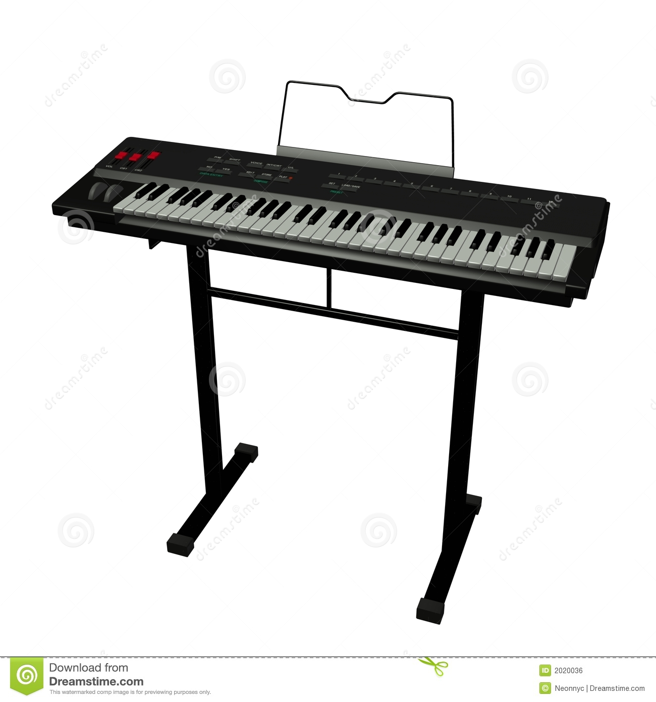 Electric Keyboard Stock Illustration Illustration Of Keys