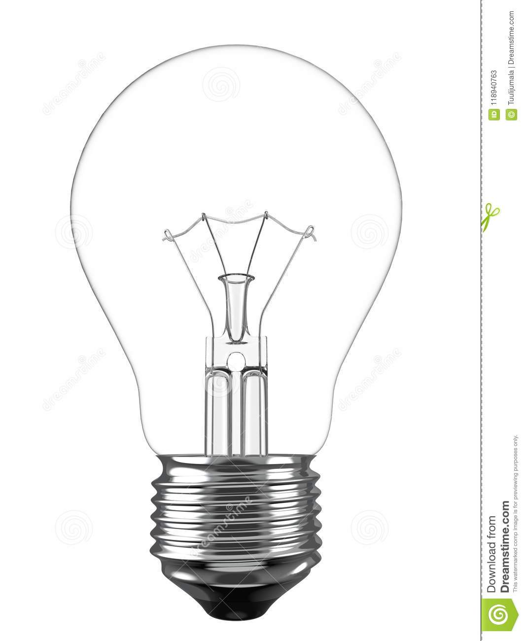 Electric Light Bulb Isolated On White Background Stock