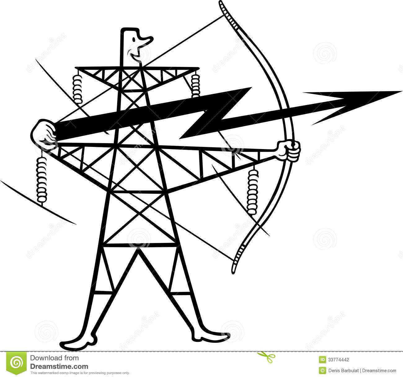 Electric Power Transmission Stock Photography