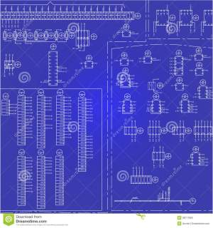 Electrical Wiring Diagram Background Royalty Free Stock
