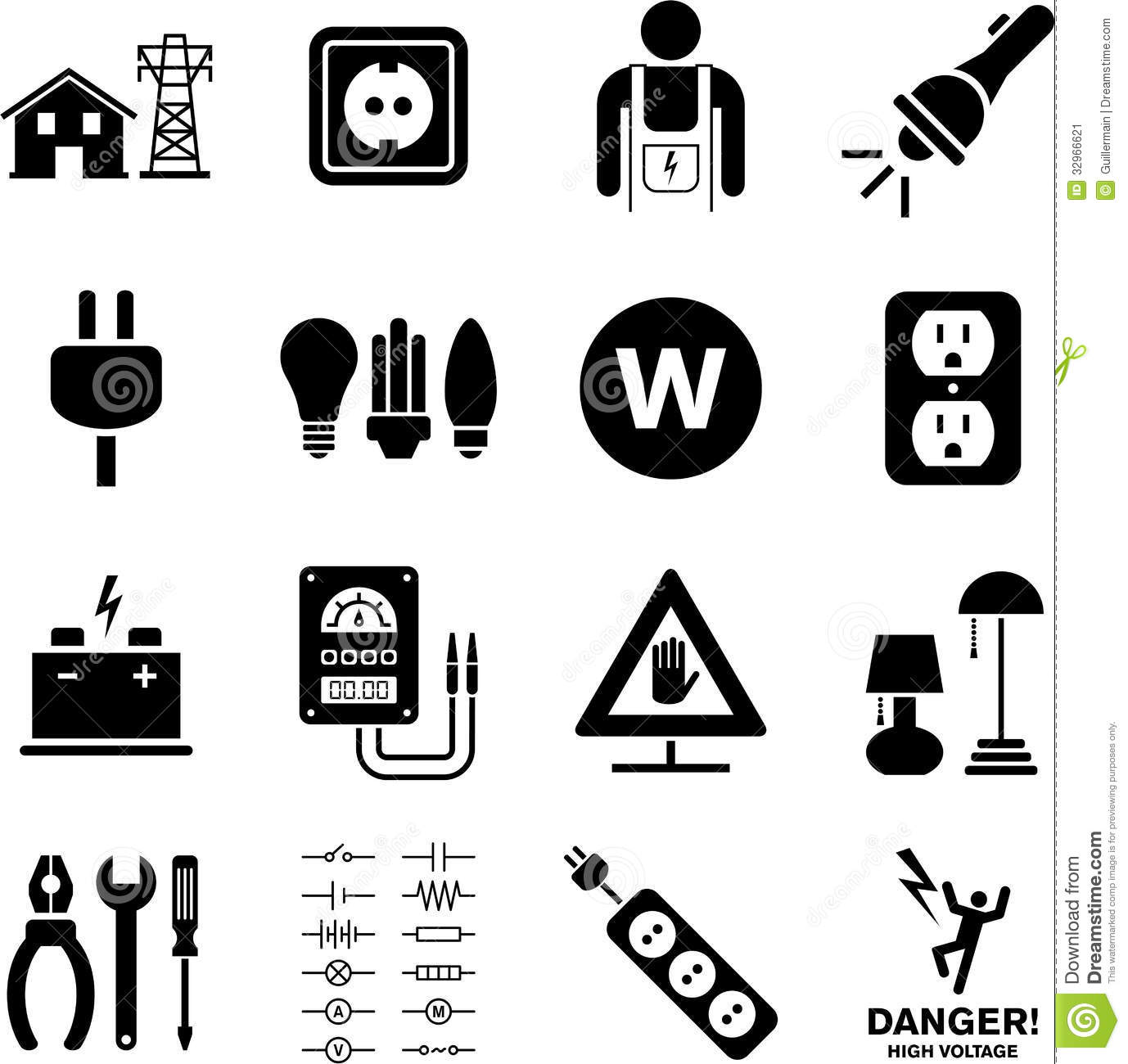 Electricity Icons Stock Image Image Of Energy Switch