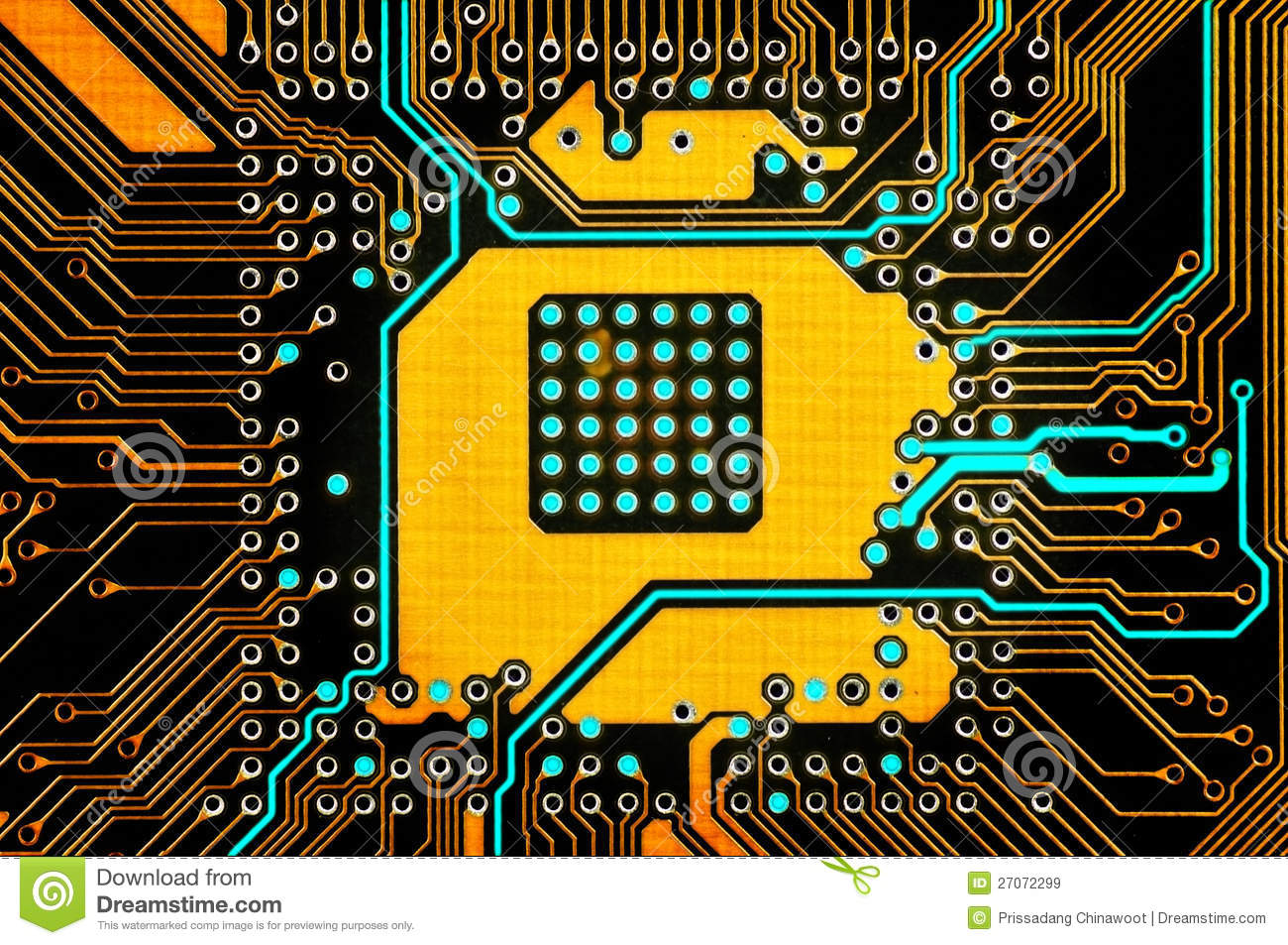 Electronic Circuit Stock Image. Image Of System, Digital
