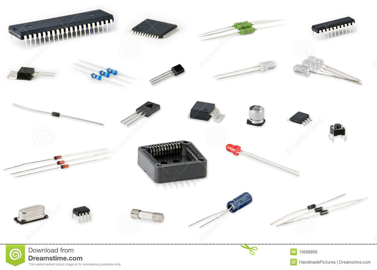 Electronic Components Stock Photo Image Of Digital Parts
