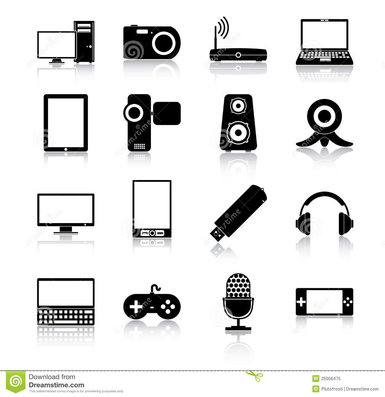 Electronics Icons Stock Vector Illustration Of Stick